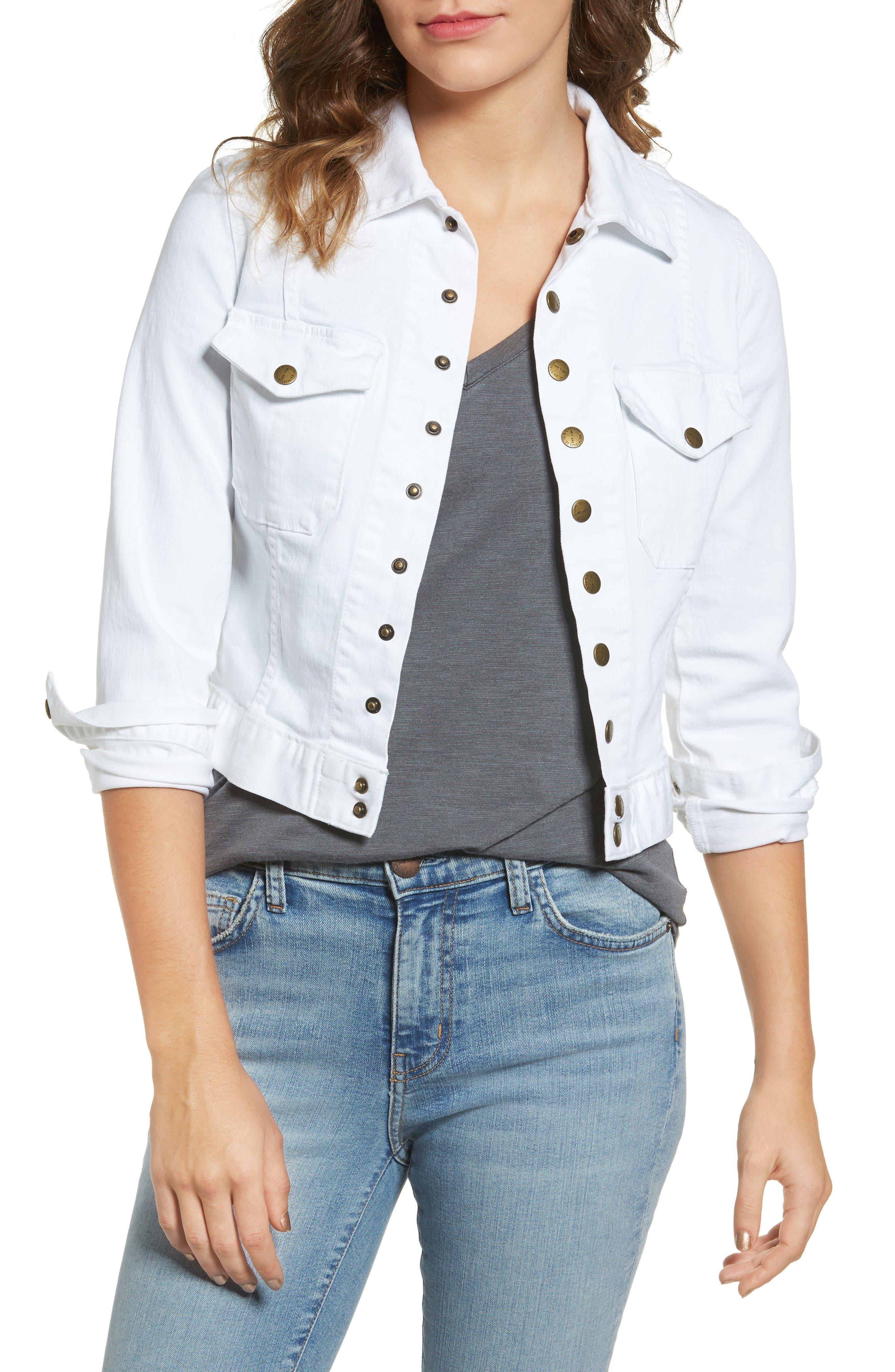 CURRENT/ELLIOTT The Snap Stretch Denim Jacket