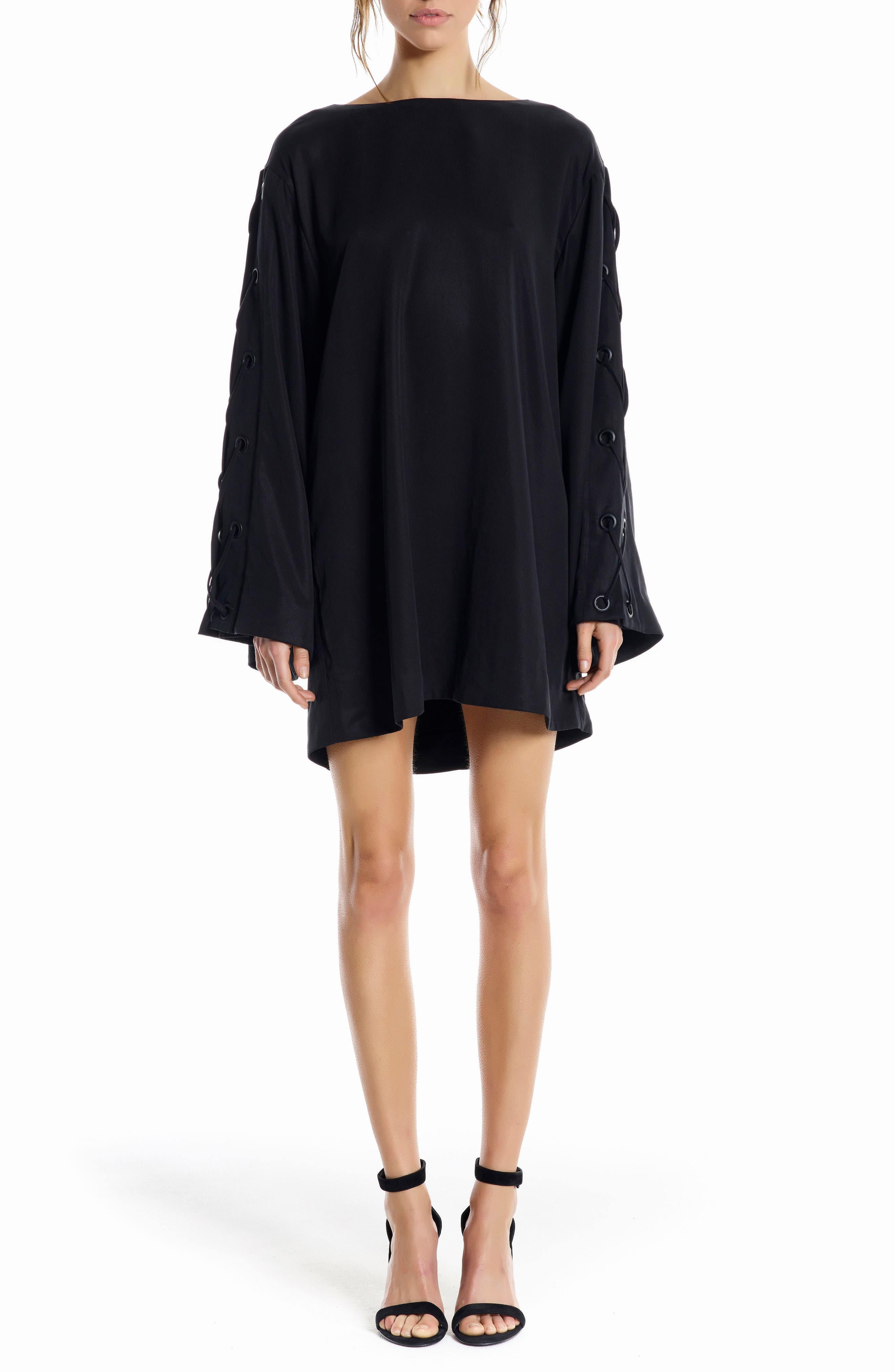 Alternate Image 1 Selected - KENDALL + KYLIE Bell Sleeve Minidress
