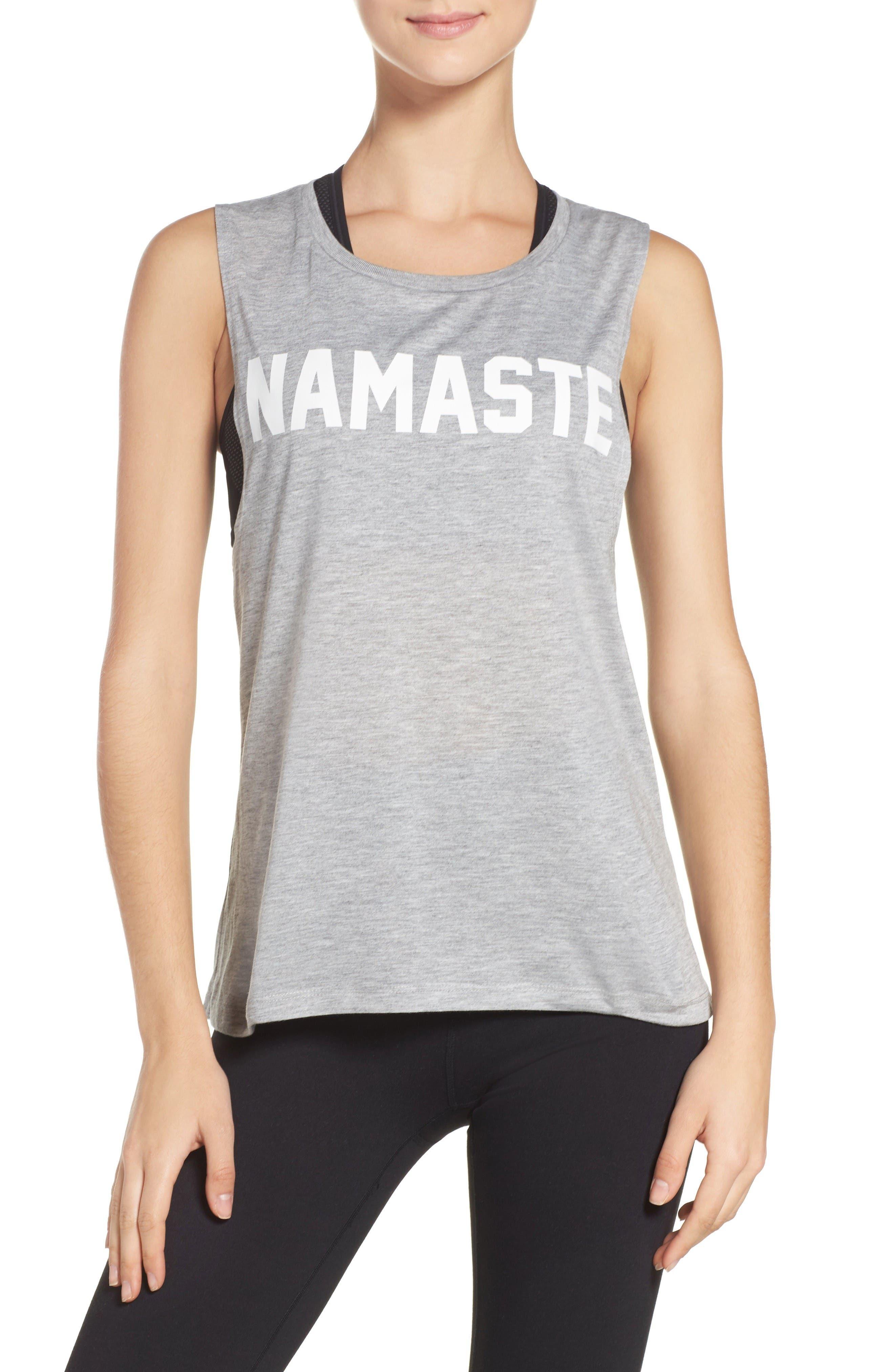 Namaste Tank,                         Main,                         color, Grey