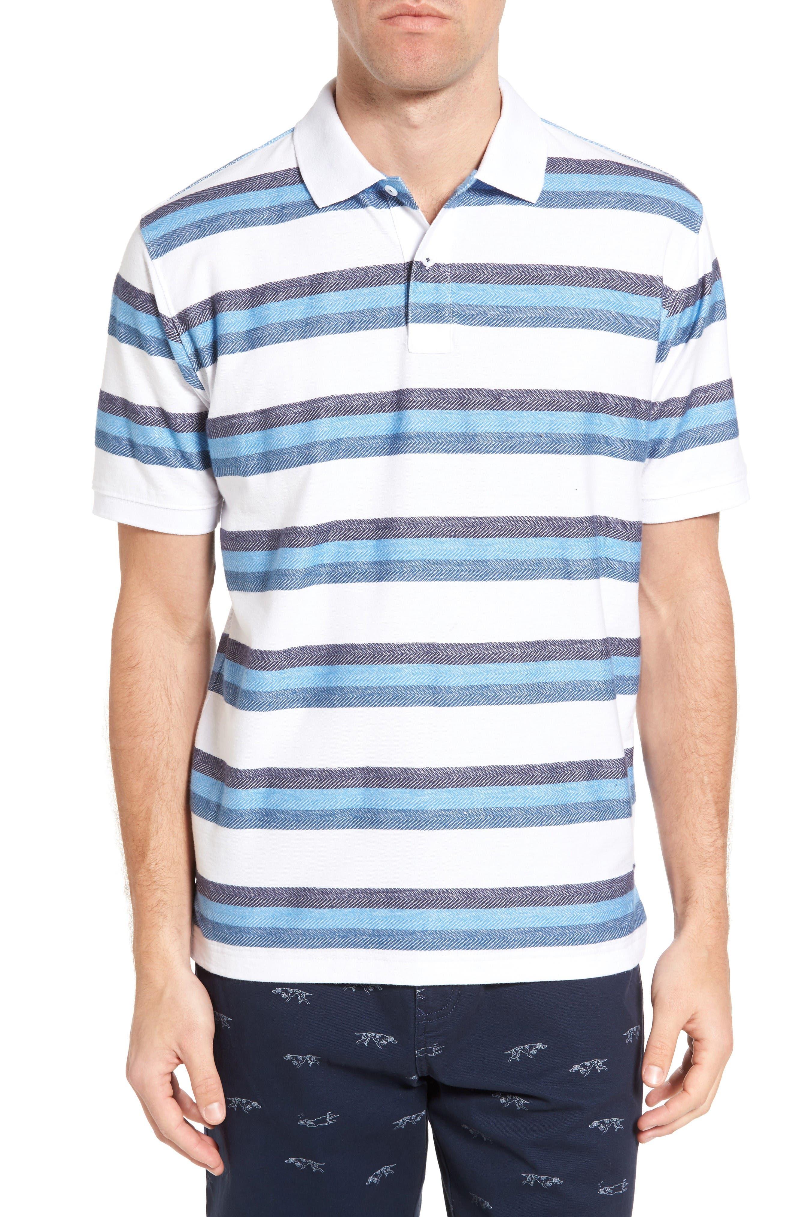 Marton Sport Fit Stripe Polo,                         Main,                         color, Glacier
