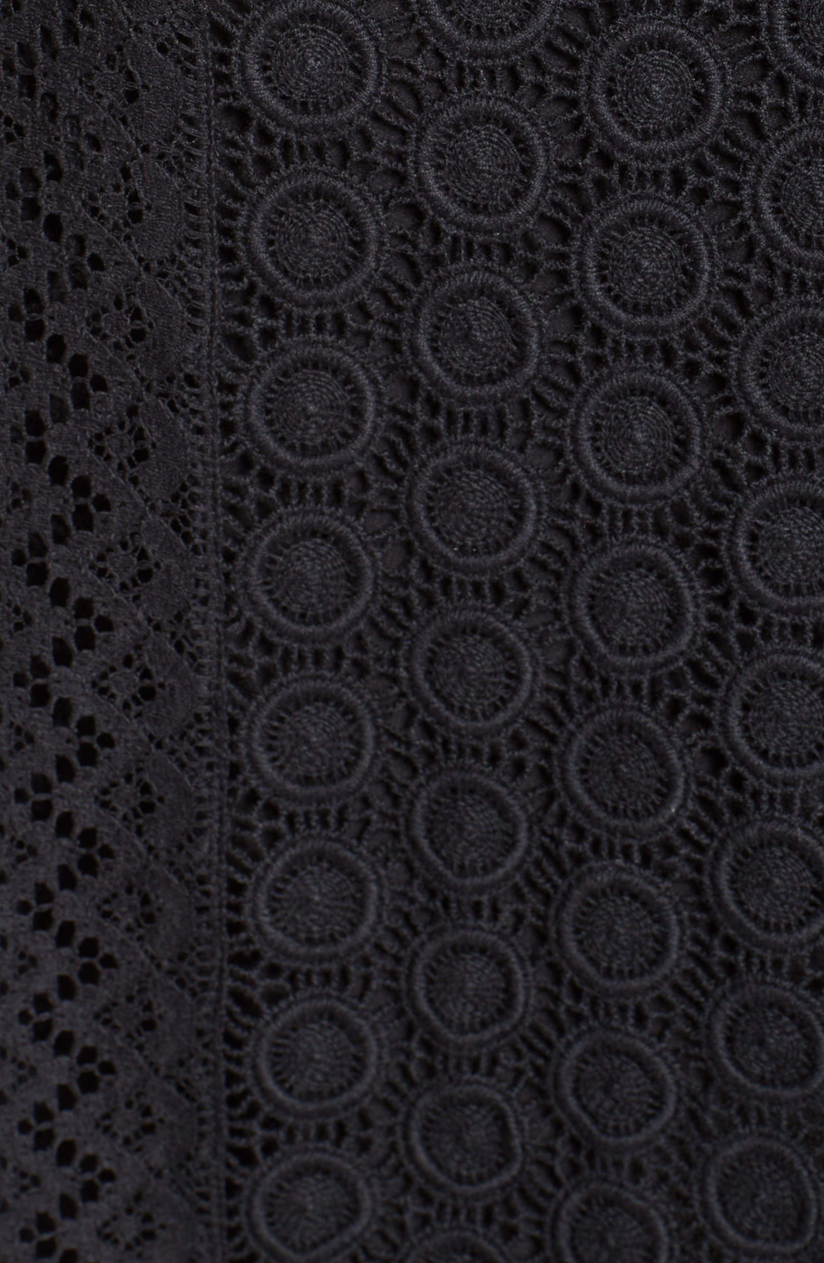 Alternate Image 3  - Burberry Howe Mixed Lace Pleated Wrap Skirt
