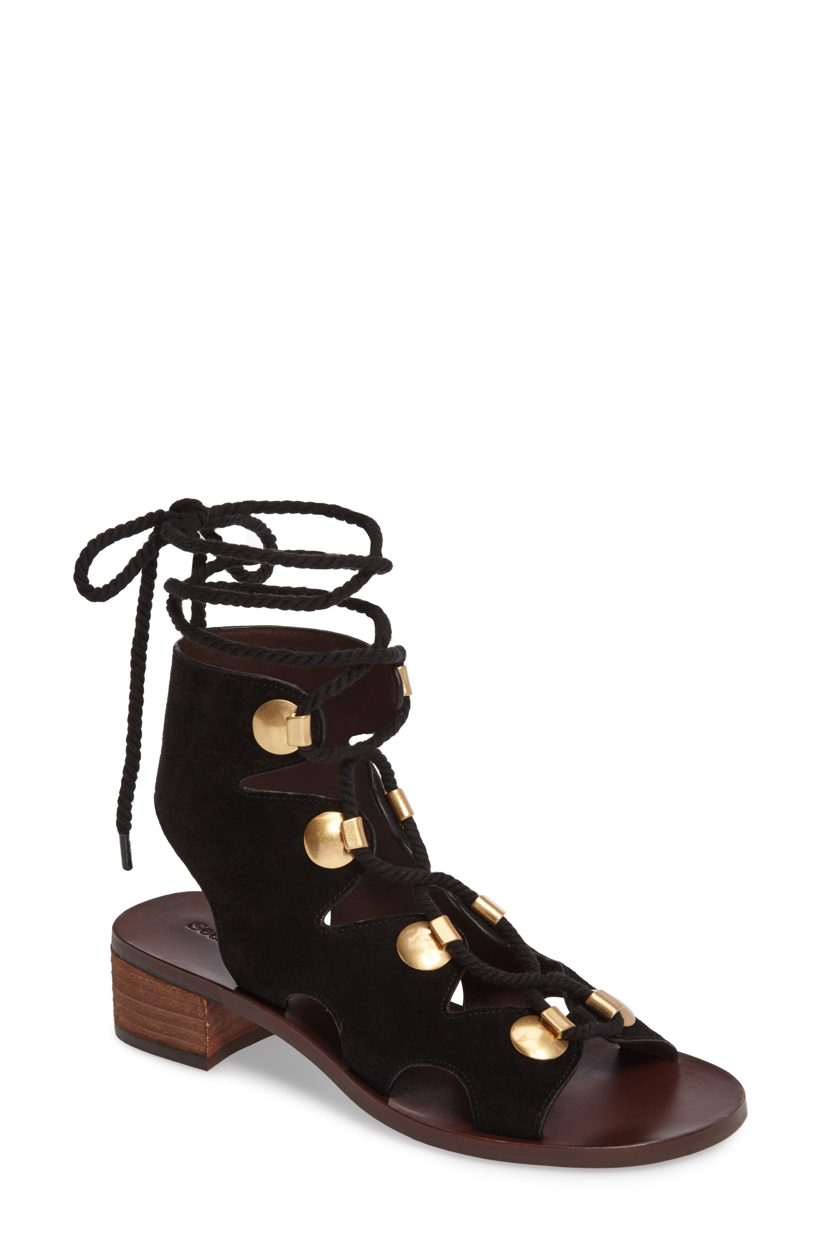 See by Chloé Edna Ghillie Gladiator Sandal (Women)