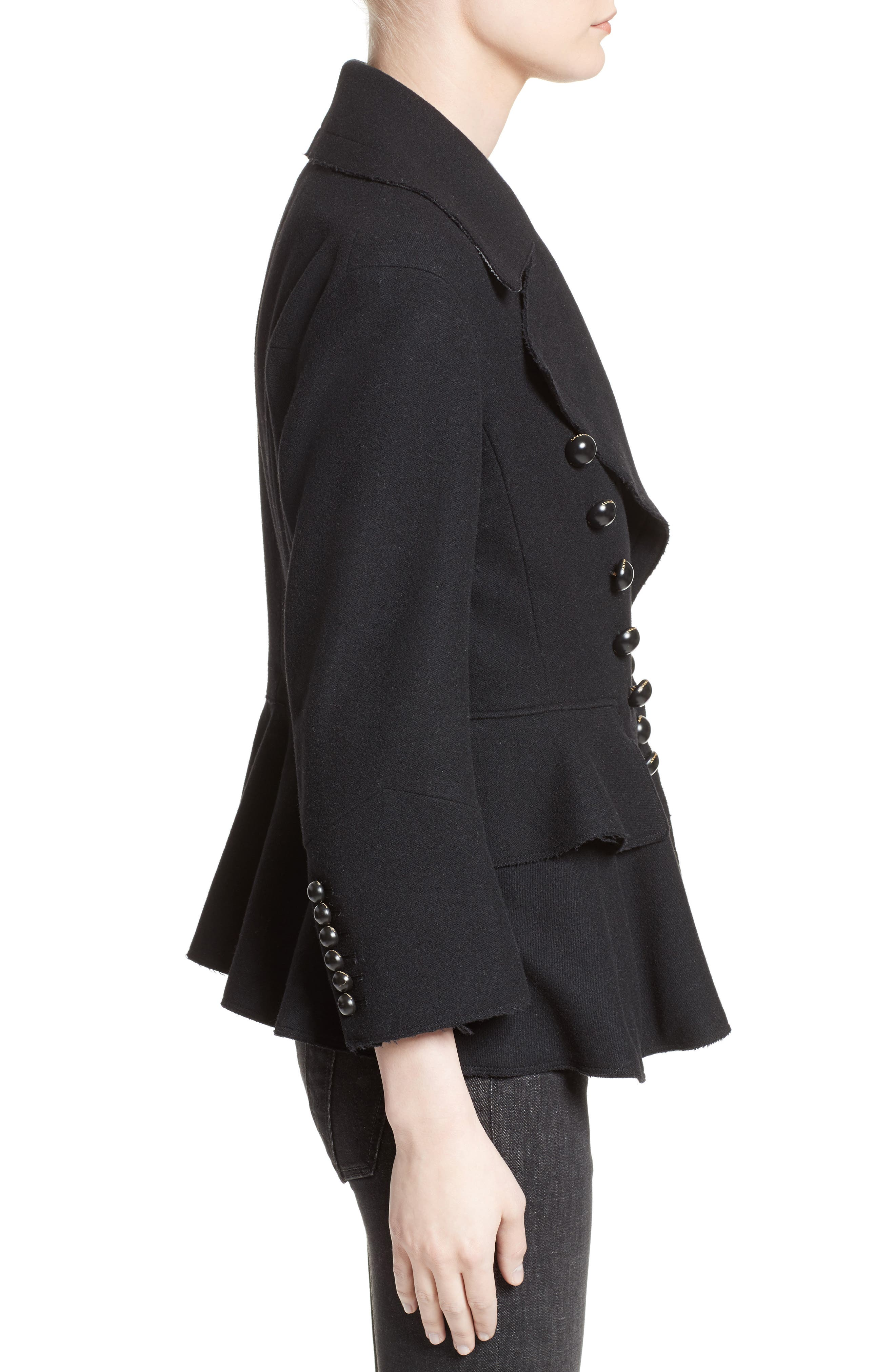 Alvingham Wool Blend Jacket,                             Alternate thumbnail 6, color,                             Black