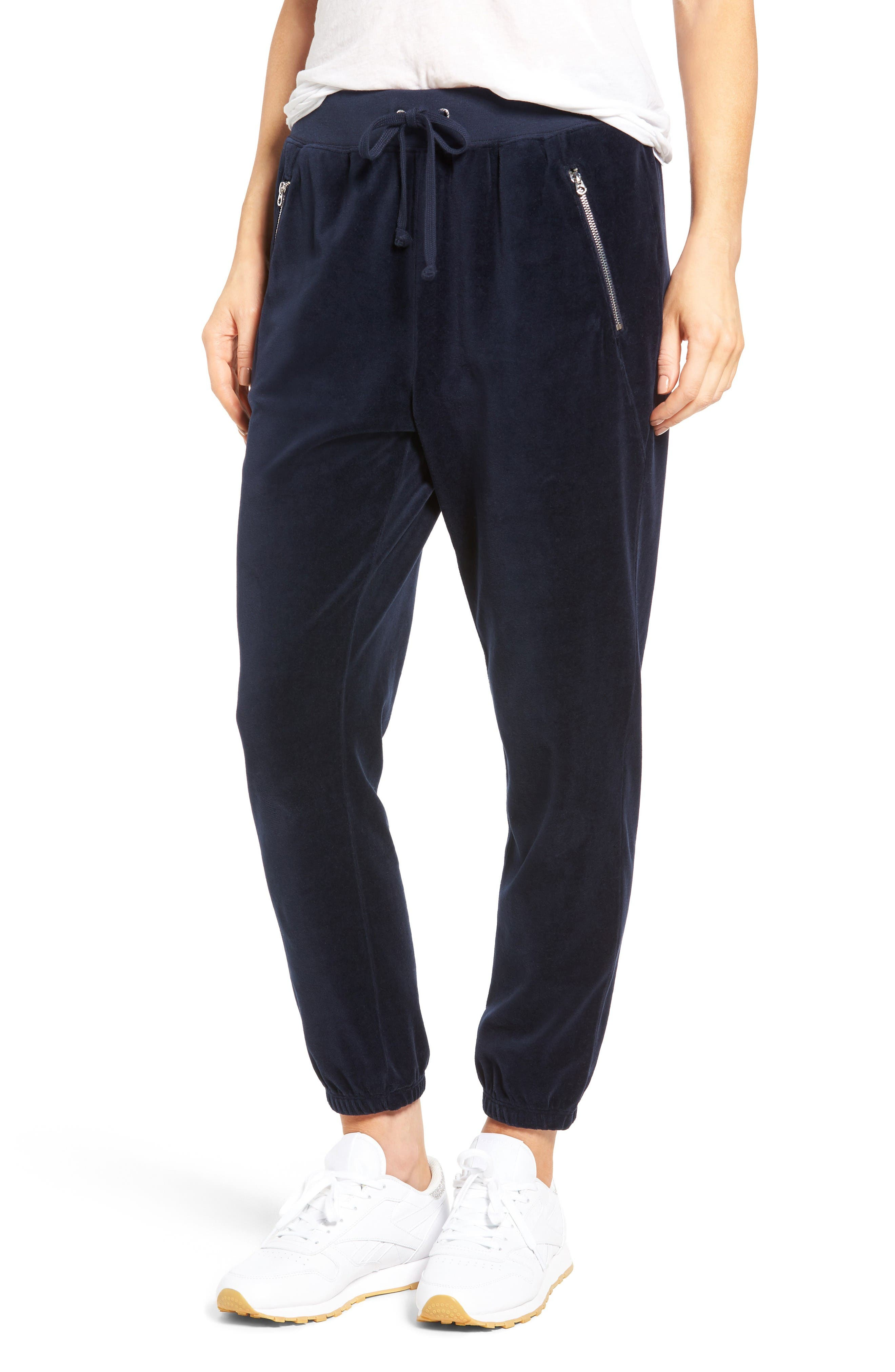 Alternate Image 1 Selected - Juicy Couture Silverlake Velour Track Pants