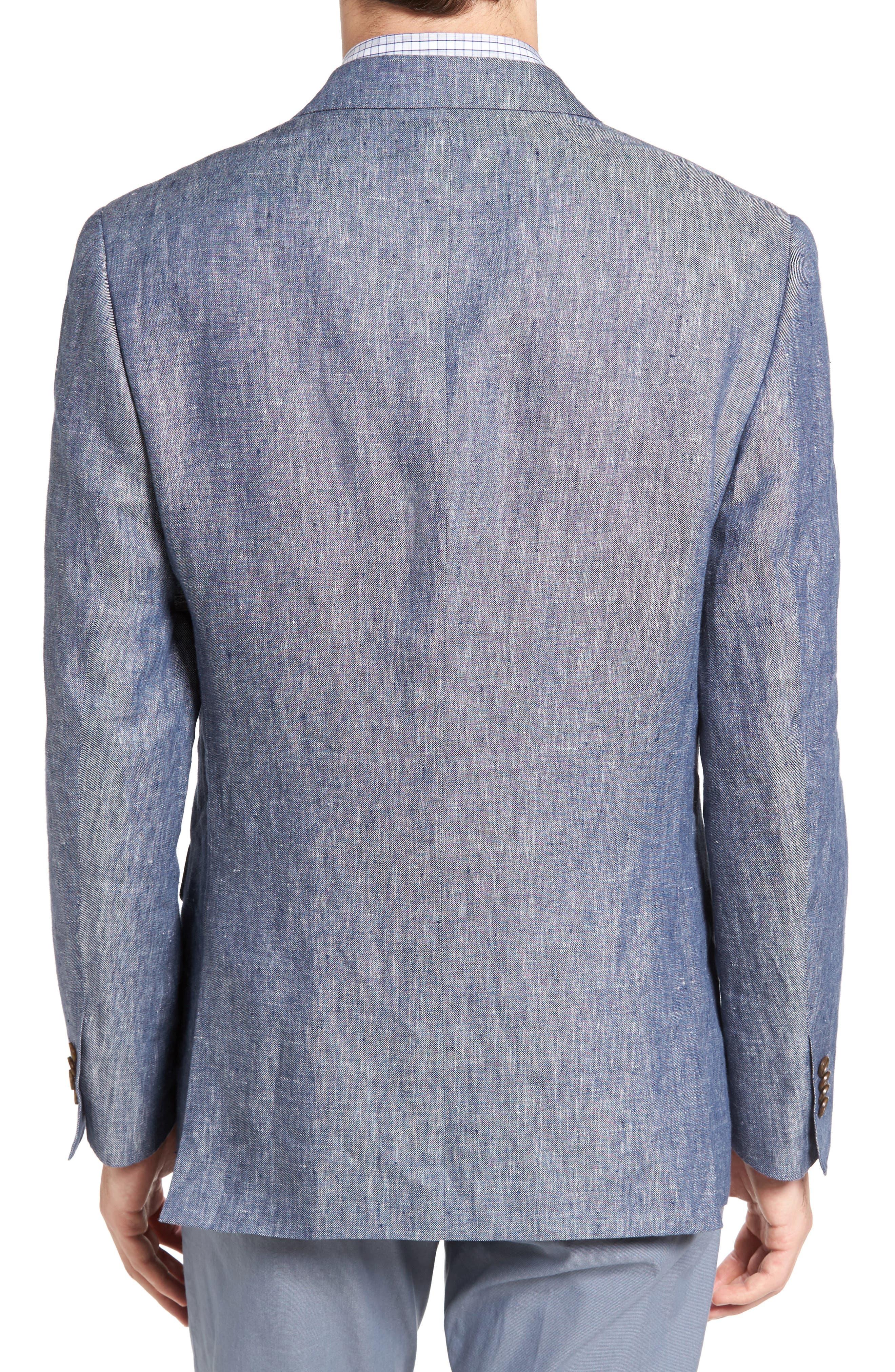 Druces Linen Sport Coat,                             Alternate thumbnail 2, color,                             Denim