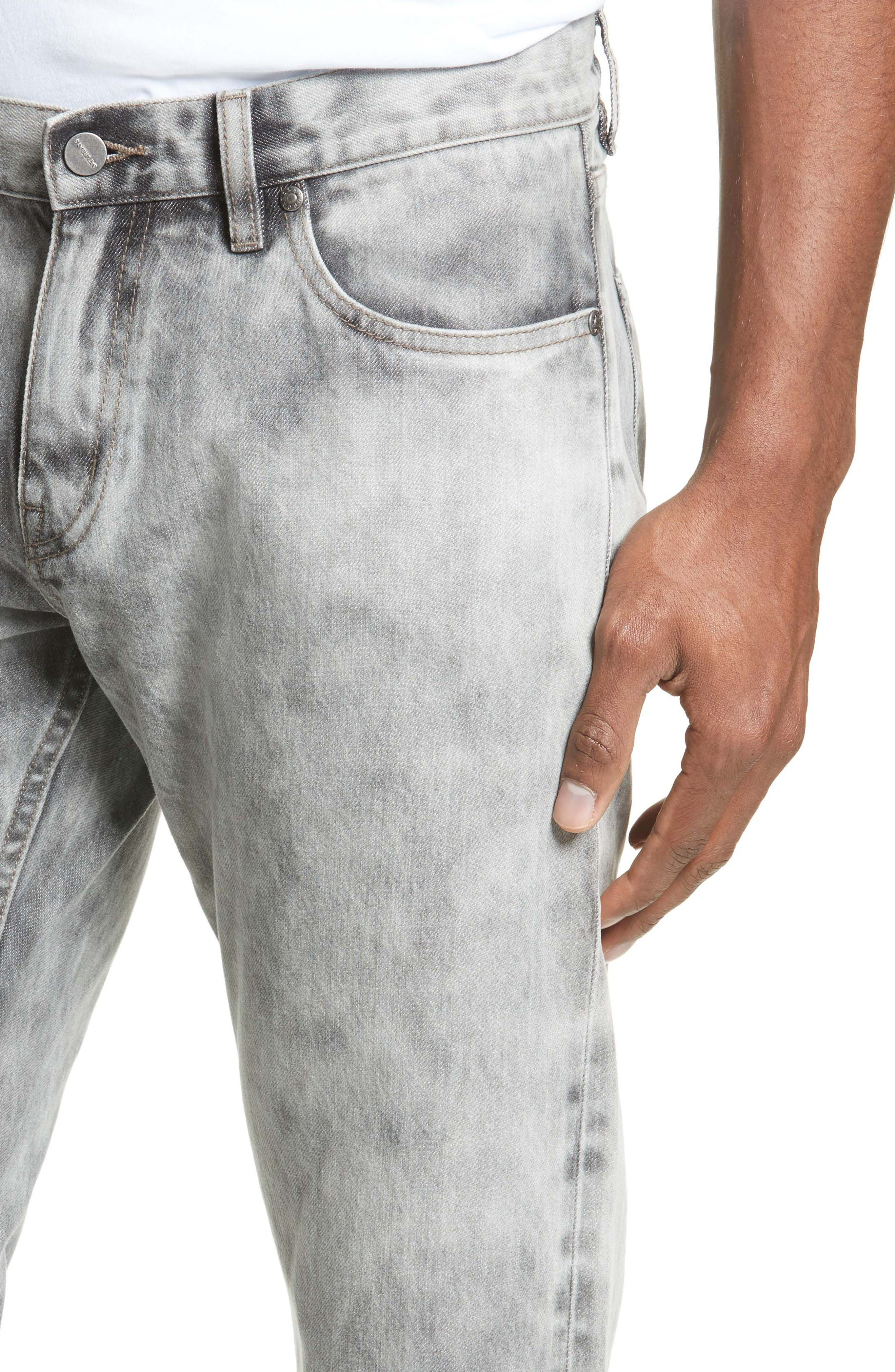 Alternate Image 4  - Saturdays NYC Luke Straight Leg Jeans (Washed Black)