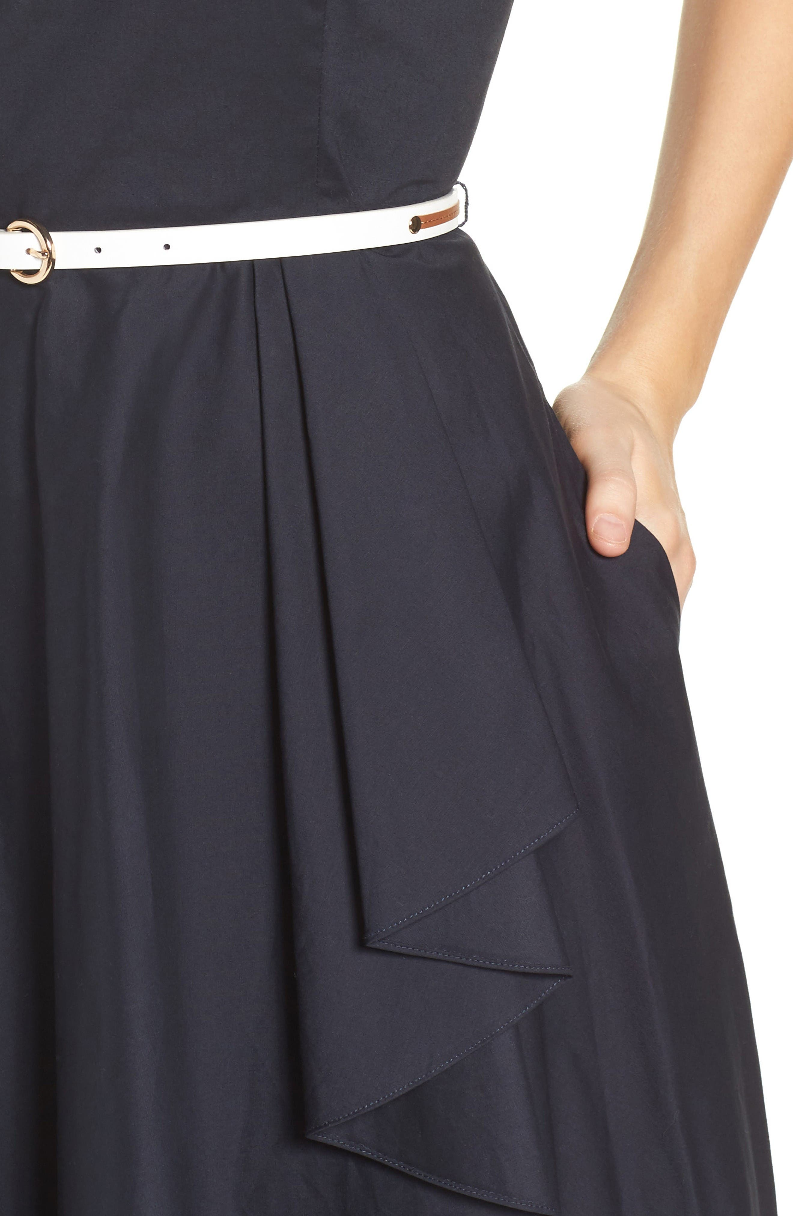 High/Low Dress,                             Alternate thumbnail 4, color,                             Navy