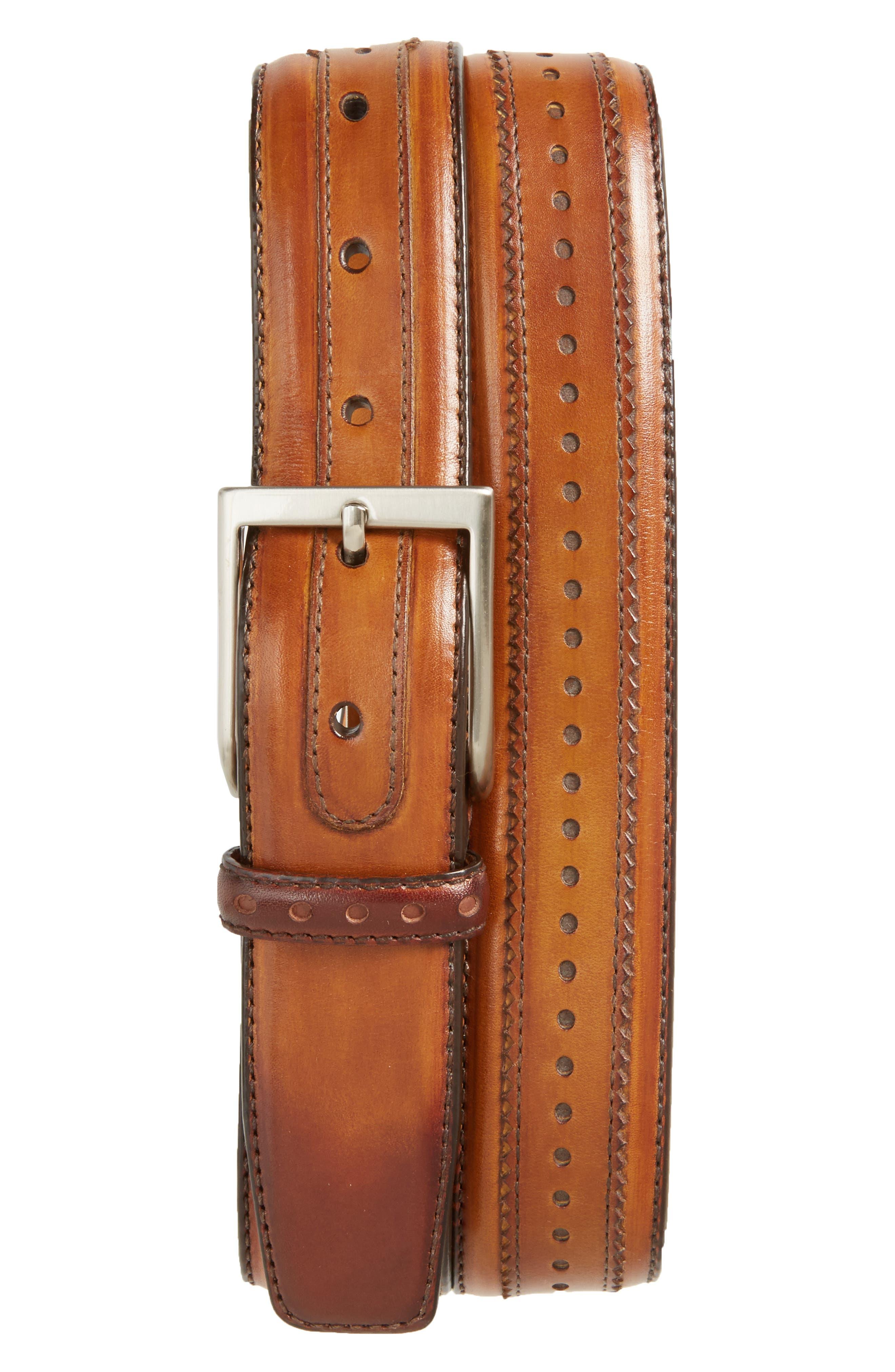 Magnanni Leeds Leather Belt