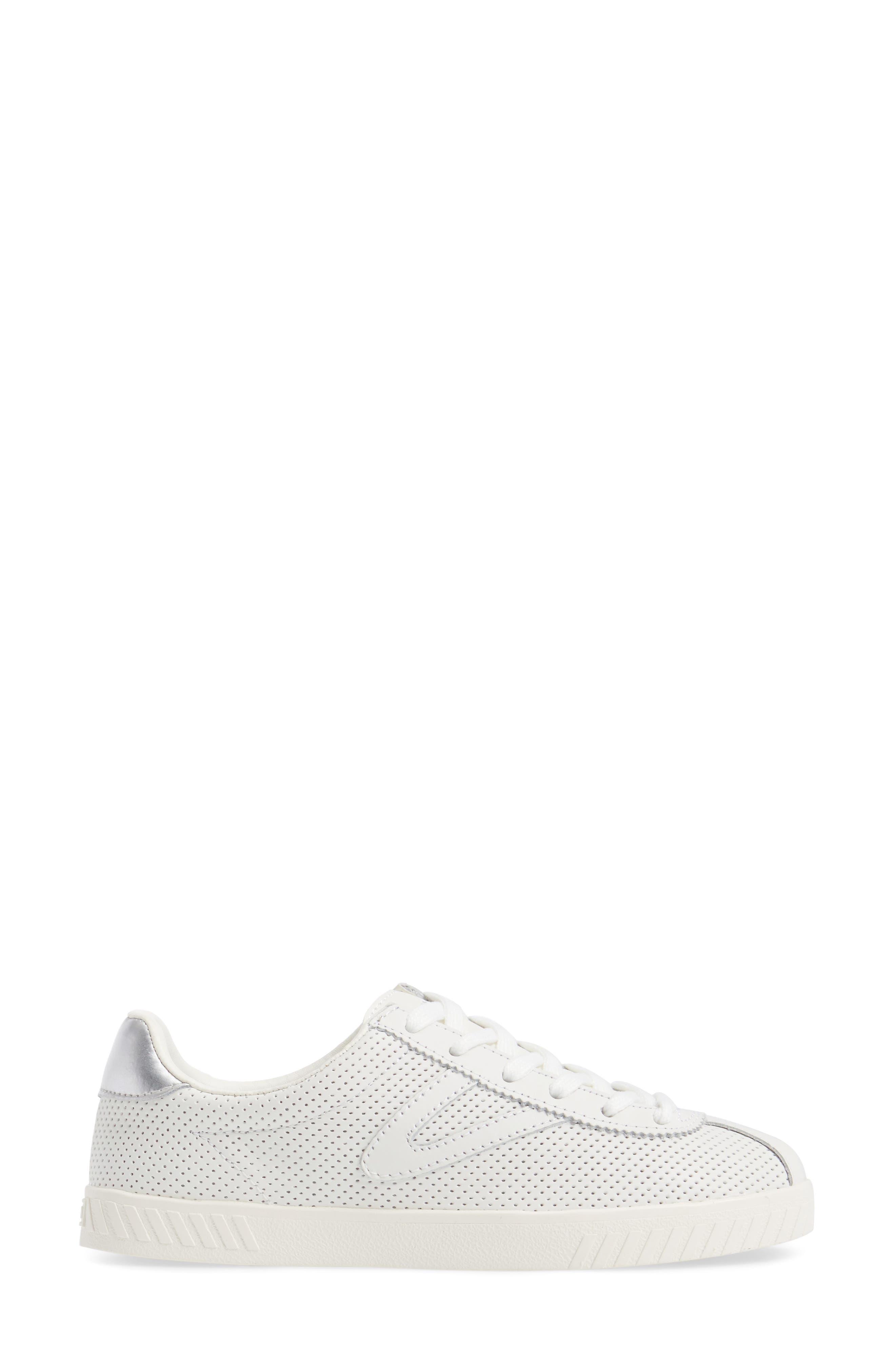 Camden 2 Sneaker,                             Alternate thumbnail 3, color,                             White/ White/ Silver
