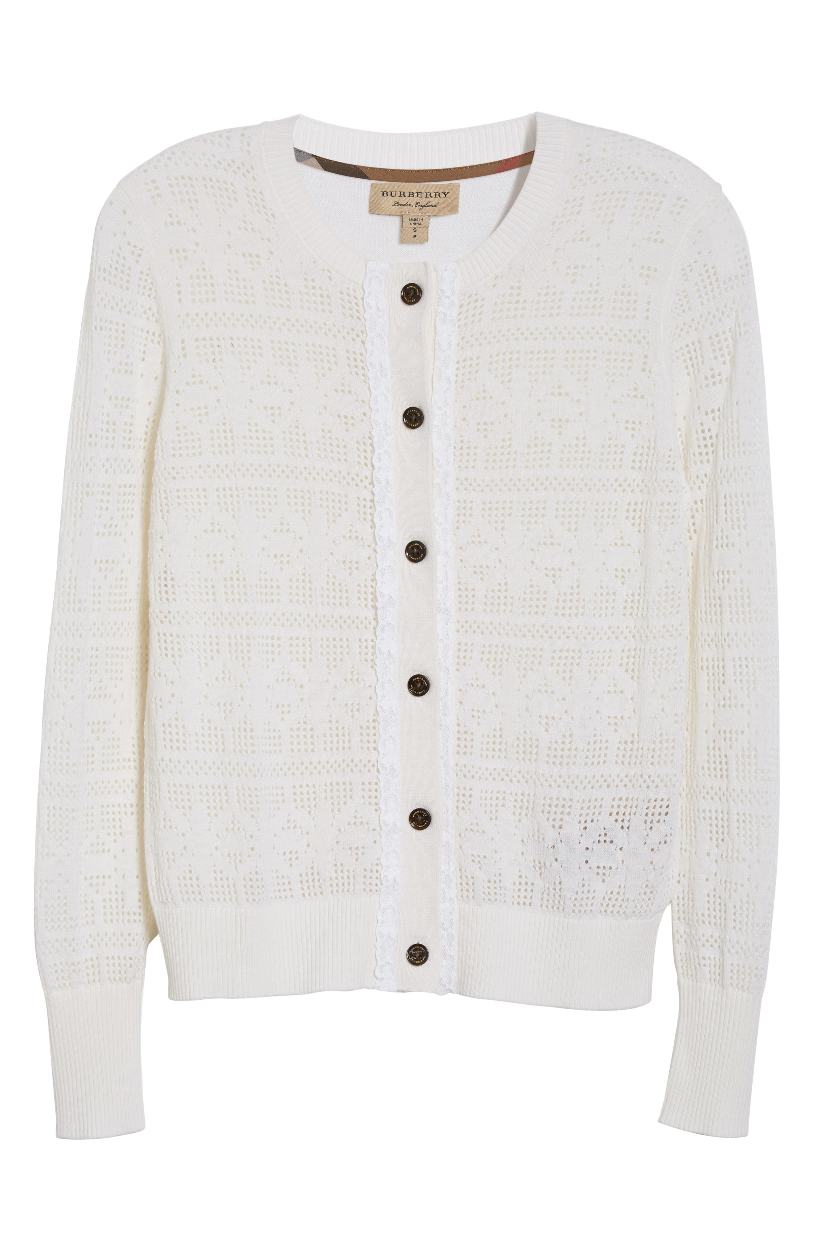 River Elvo Wool & Cashmere Cardigan,                             Alternate thumbnail 4, color,                             Natural White