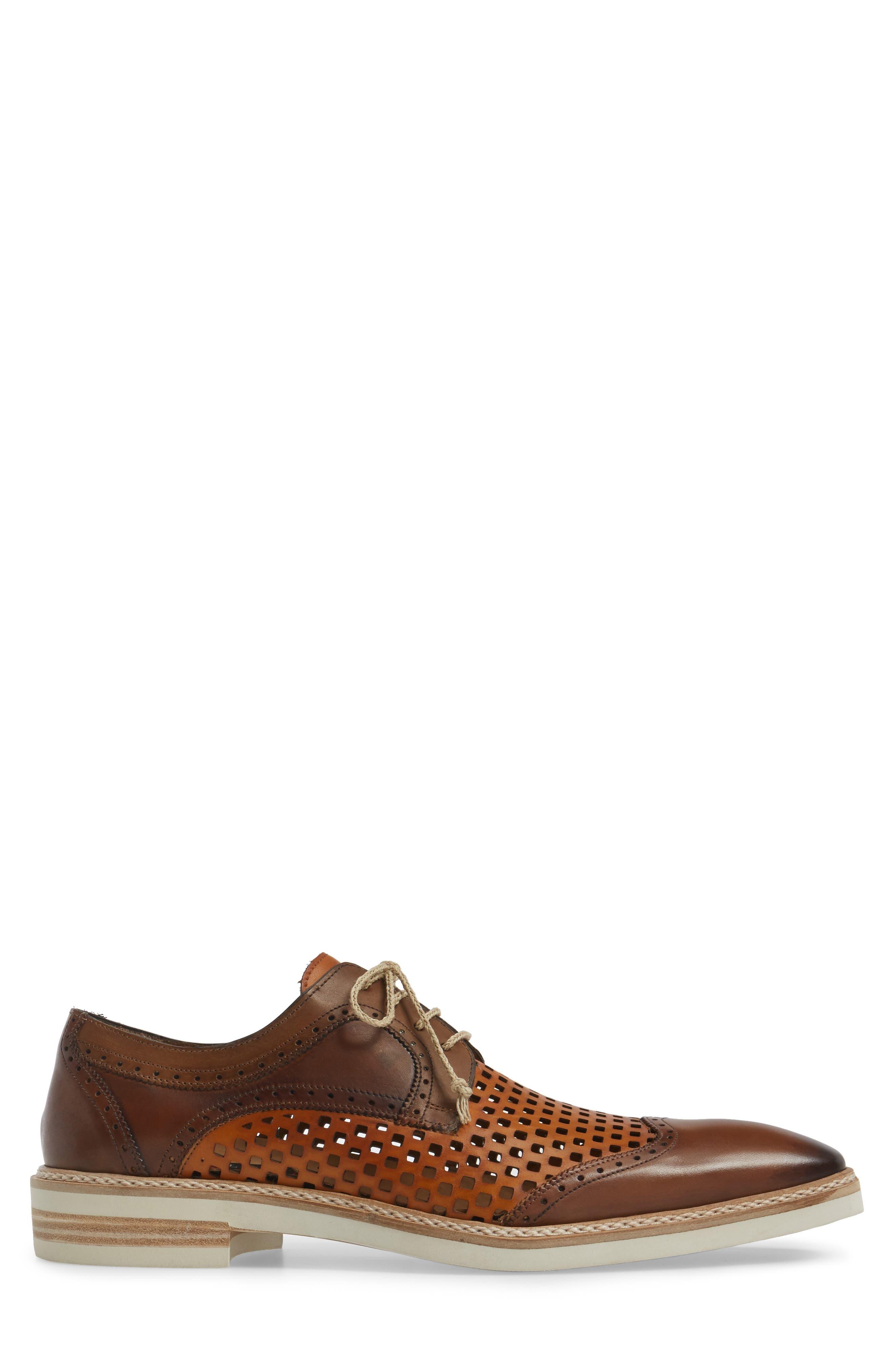 Alvarez Spectator Shoe,                             Alternate thumbnail 3, color,                             Cognac Multi Leather