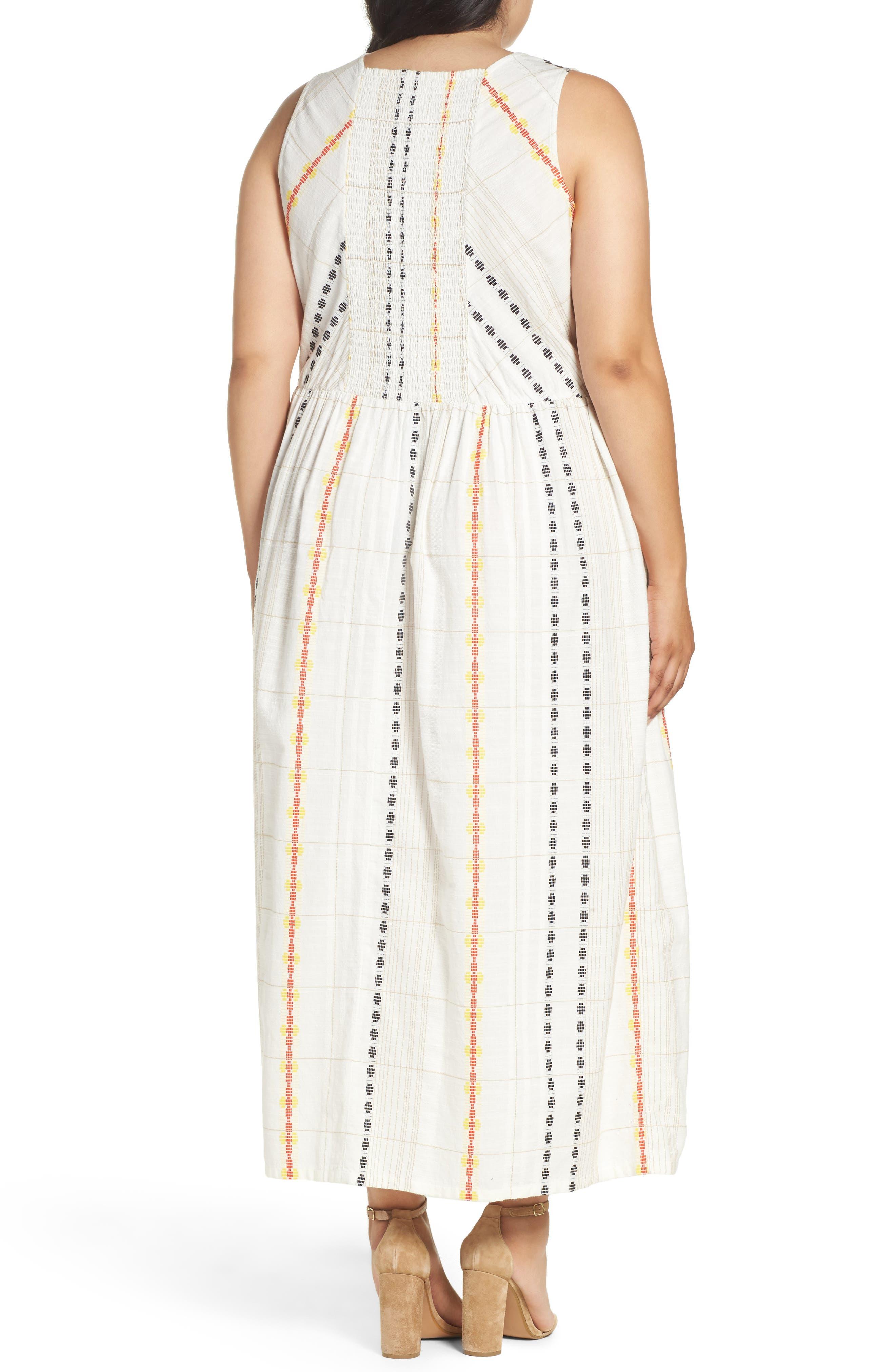 Alternate Image 2  - Caslon® Cotton Maxi Dress (Plus Size)