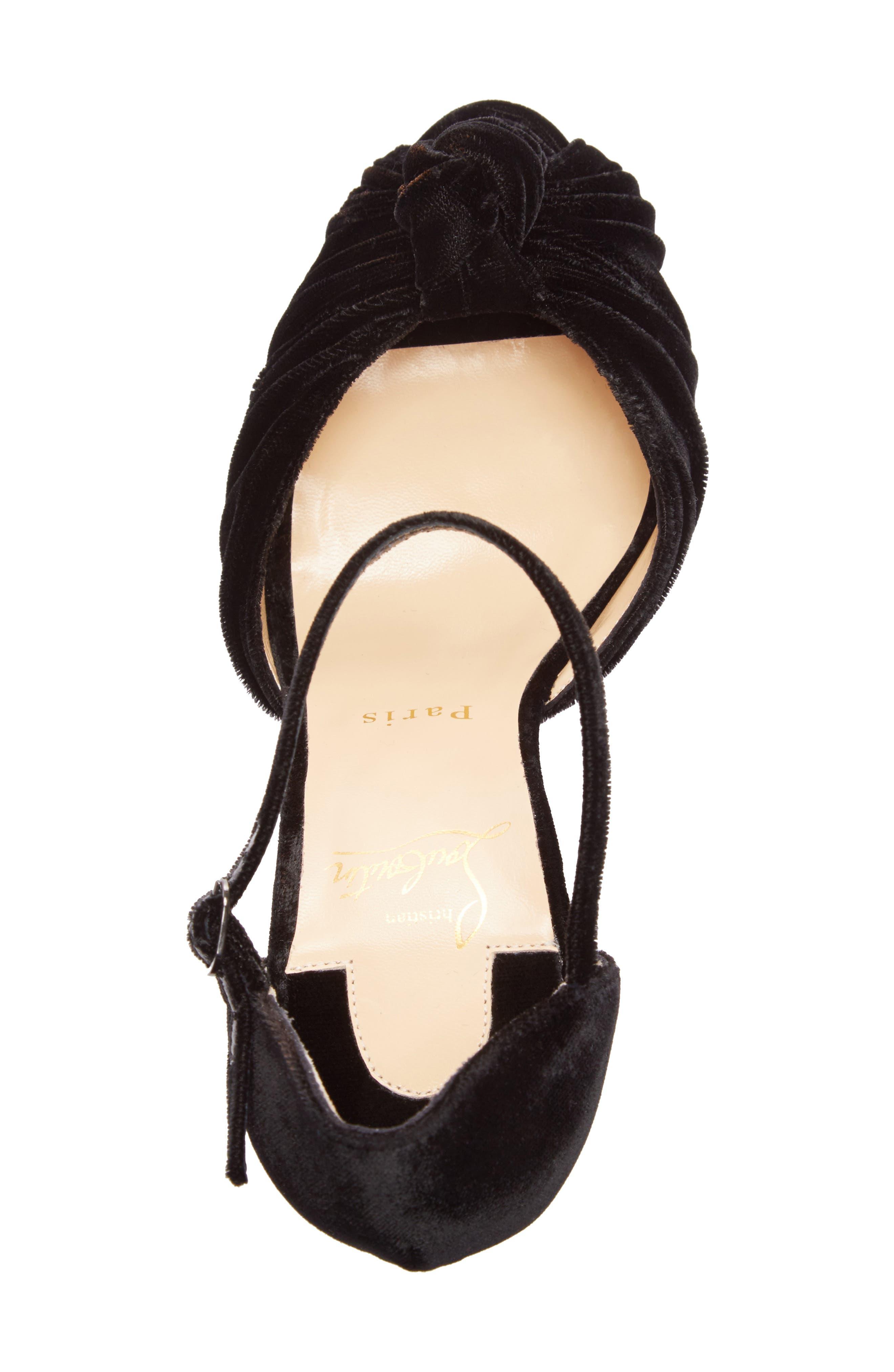 Marchavekel Ankle Strap Platform Sandal,                             Alternate thumbnail 3, color,                             Black Velvet