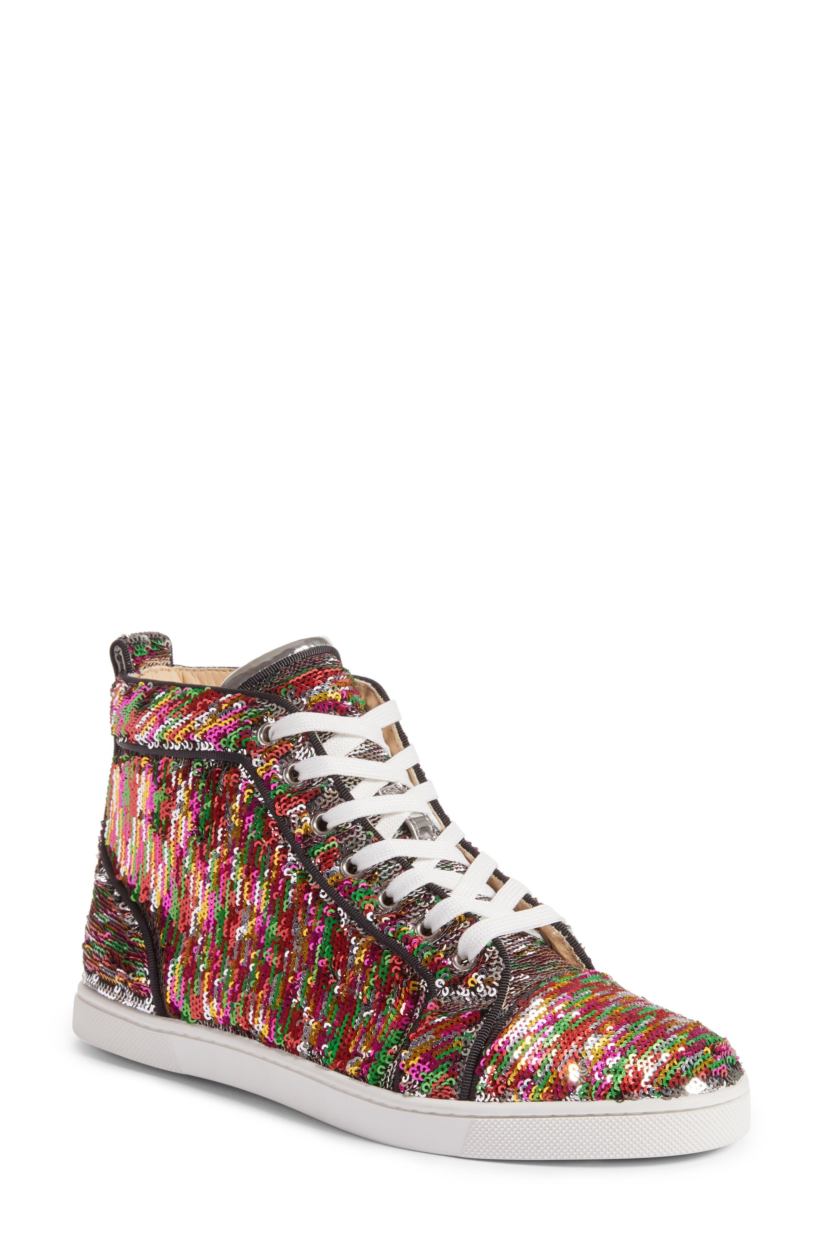 Alternate Image 1 Selected - Christian Louboutin Bip Bip High Top Sneaker (Women)