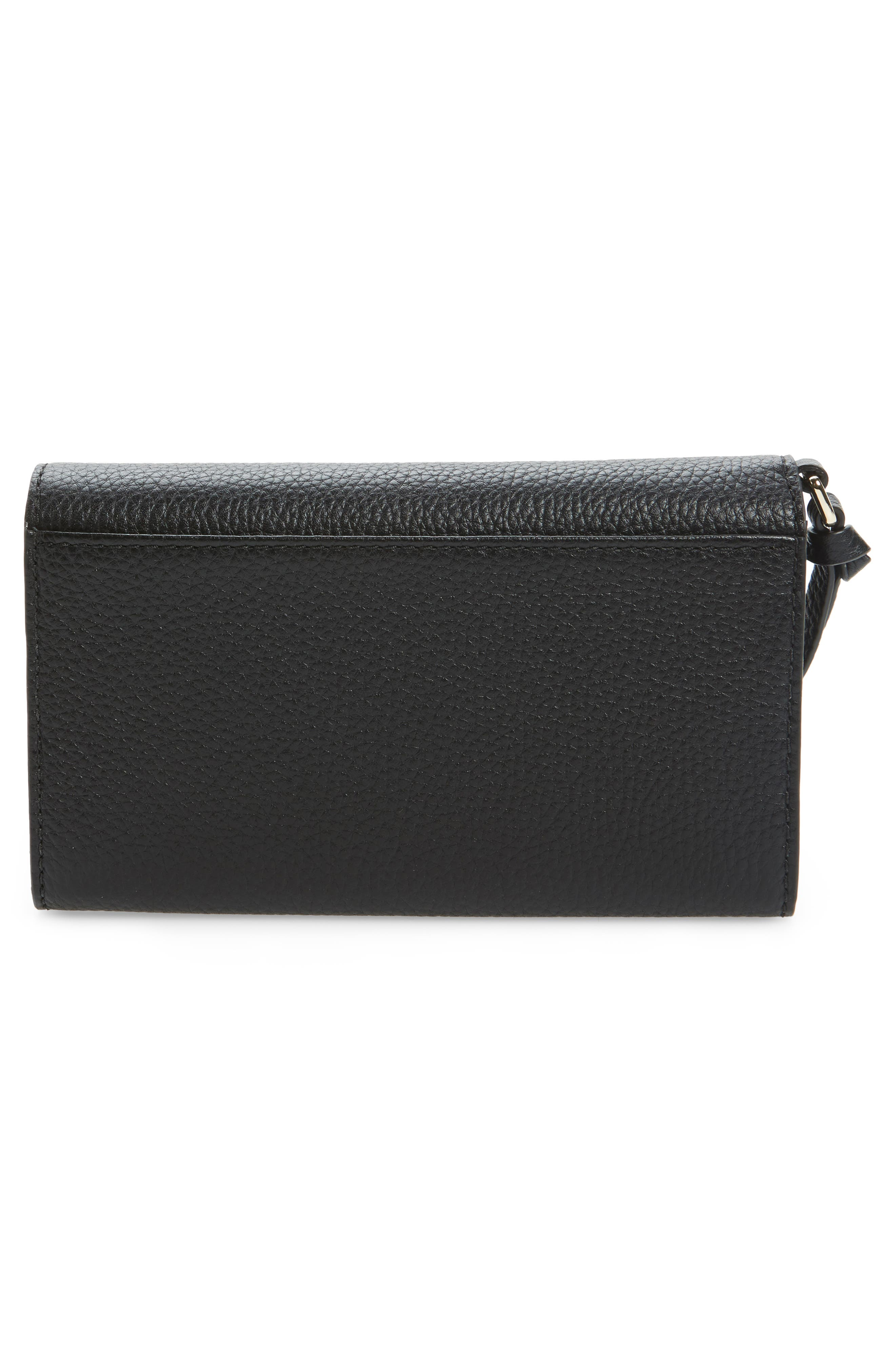 jackson street malorie leather wallet,                             Alternate thumbnail 4, color,                             Black