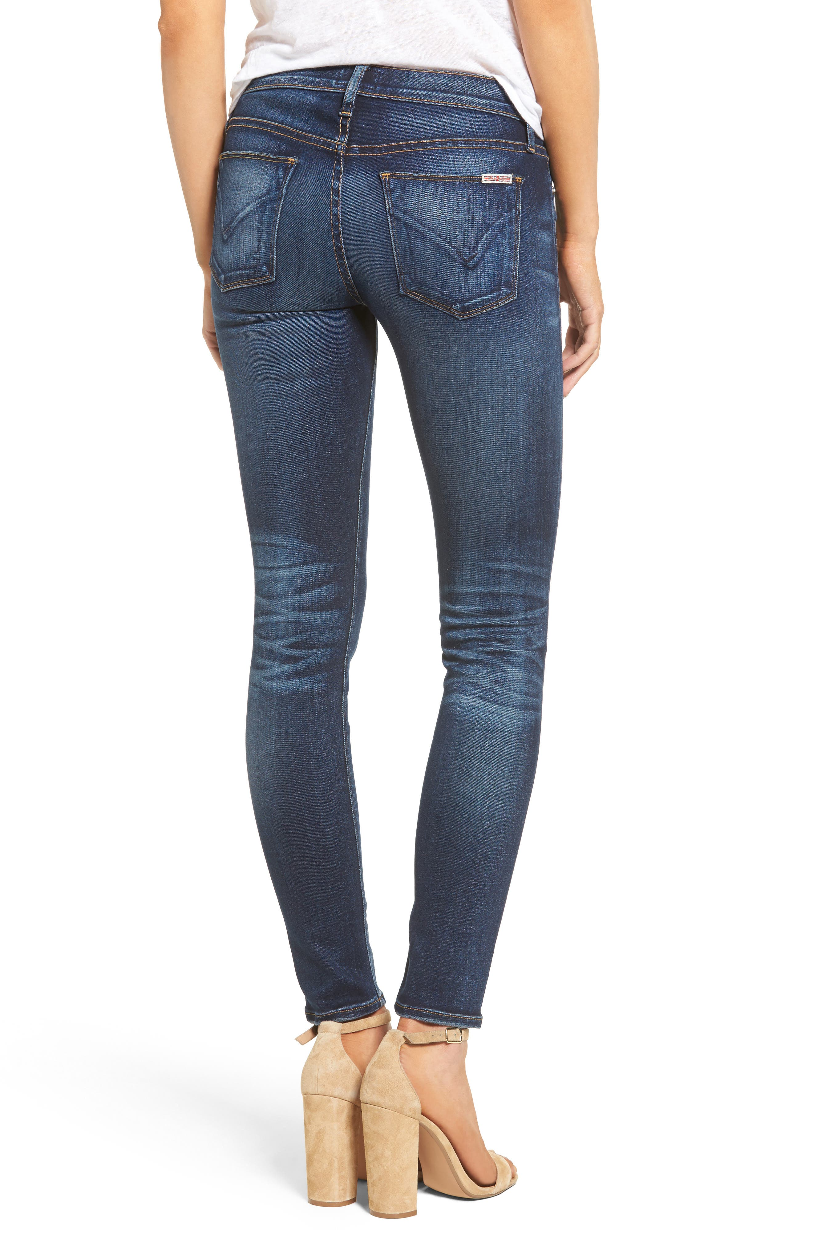 Nico Supermodel Skinny Jeans,                             Alternate thumbnail 2, color,                             Blue Gold