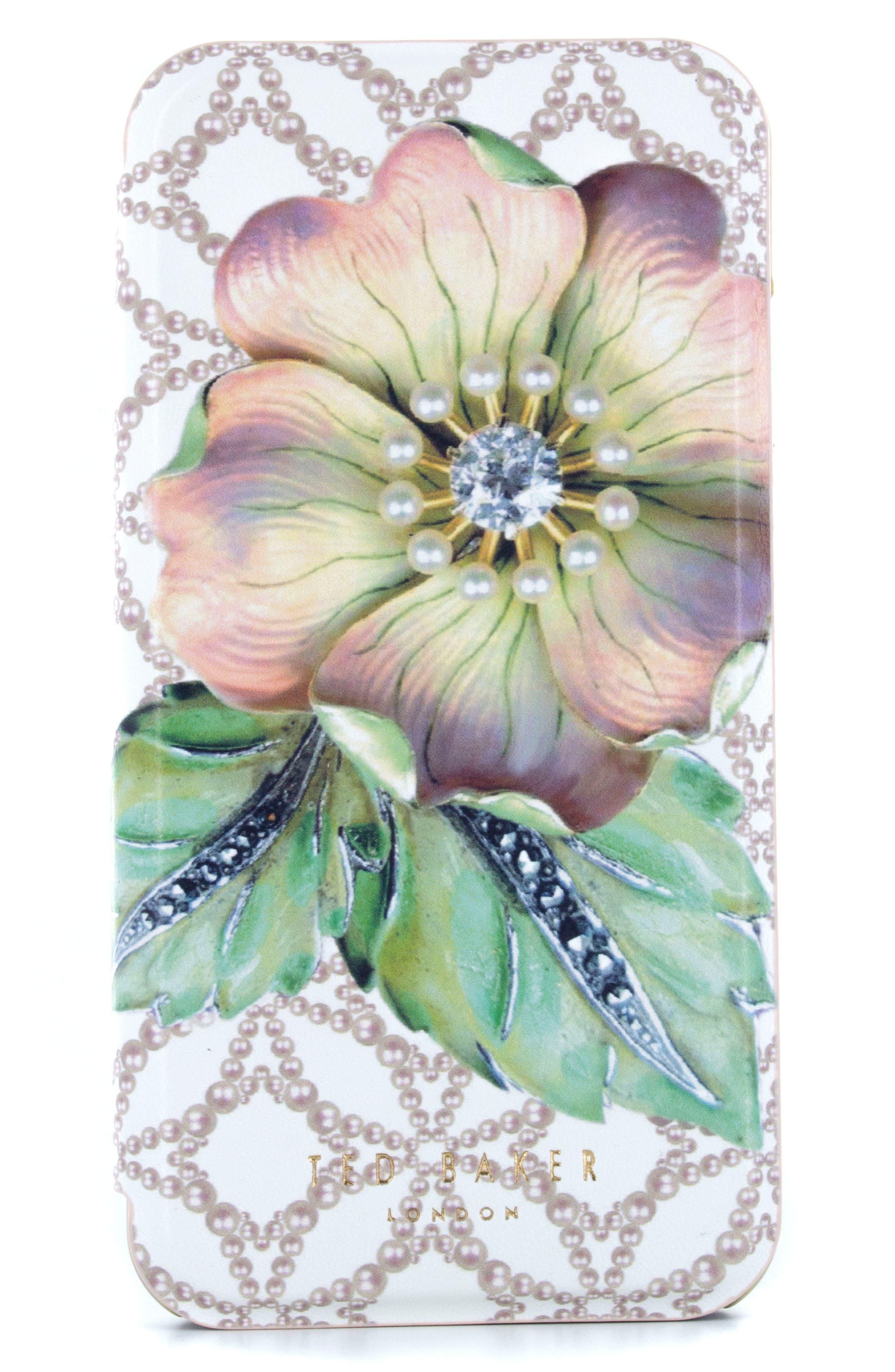 Mavis iPhone 6/6s/7/8 Plus Mirror Folio Case,                             Main thumbnail 1, color,                             Multi