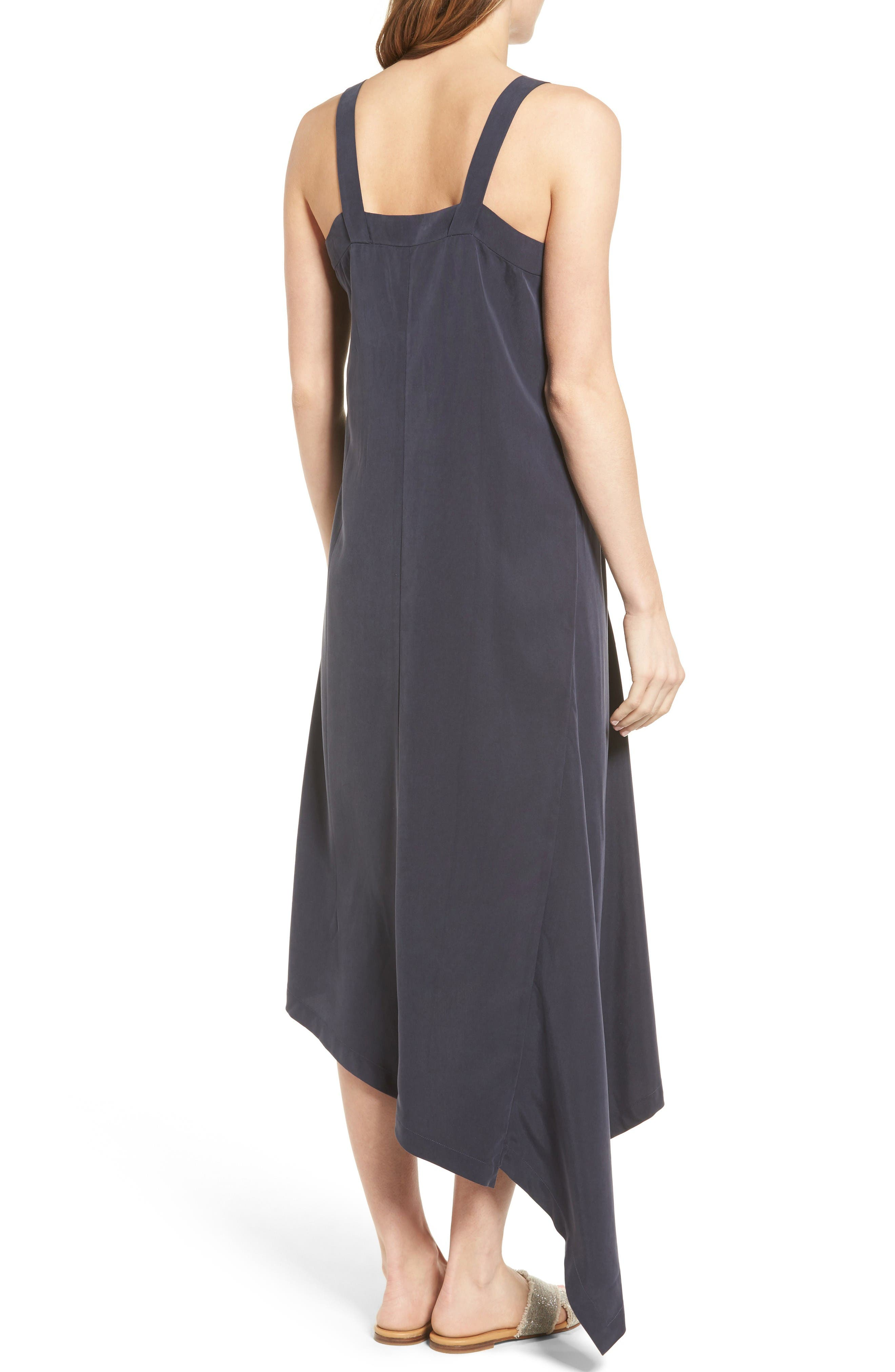 Alternate Image 2  - NIC+ZOE City Slicker Asymmetrical Midi Dress (Regular & Petite)
