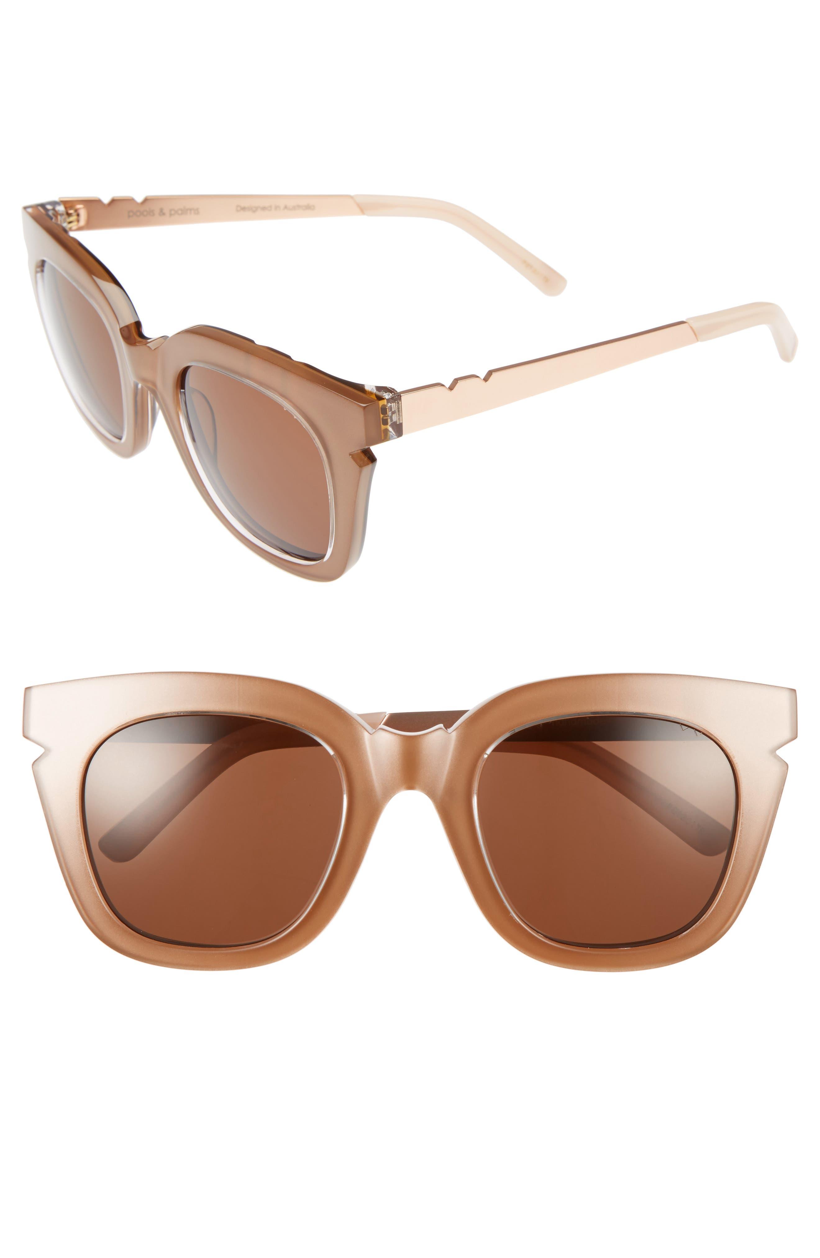 Pared Pools & Palms 50mm Sunglasses