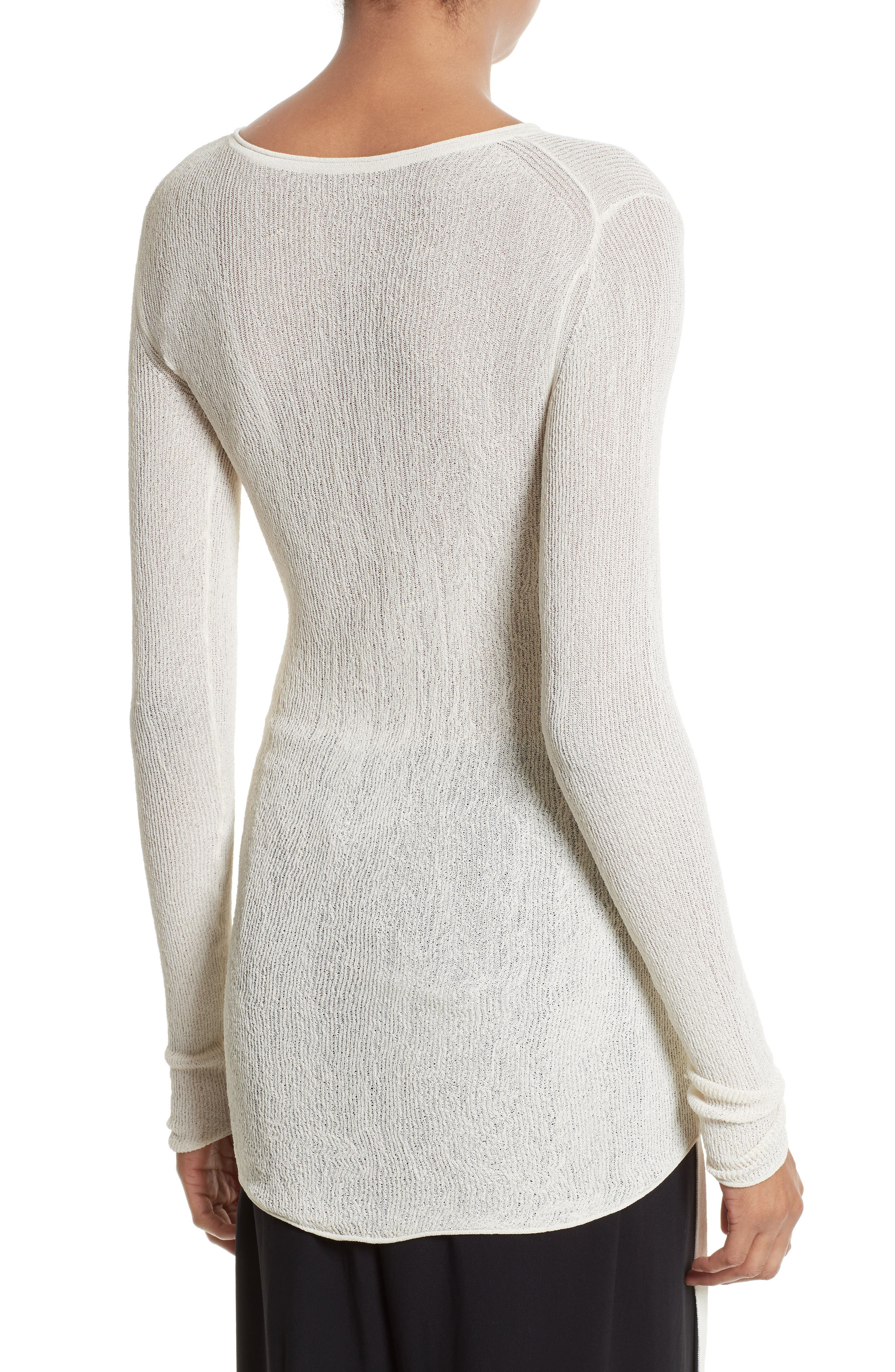 Alternate Image 3  - Helmut Lang Drawstring Crepe Pullover