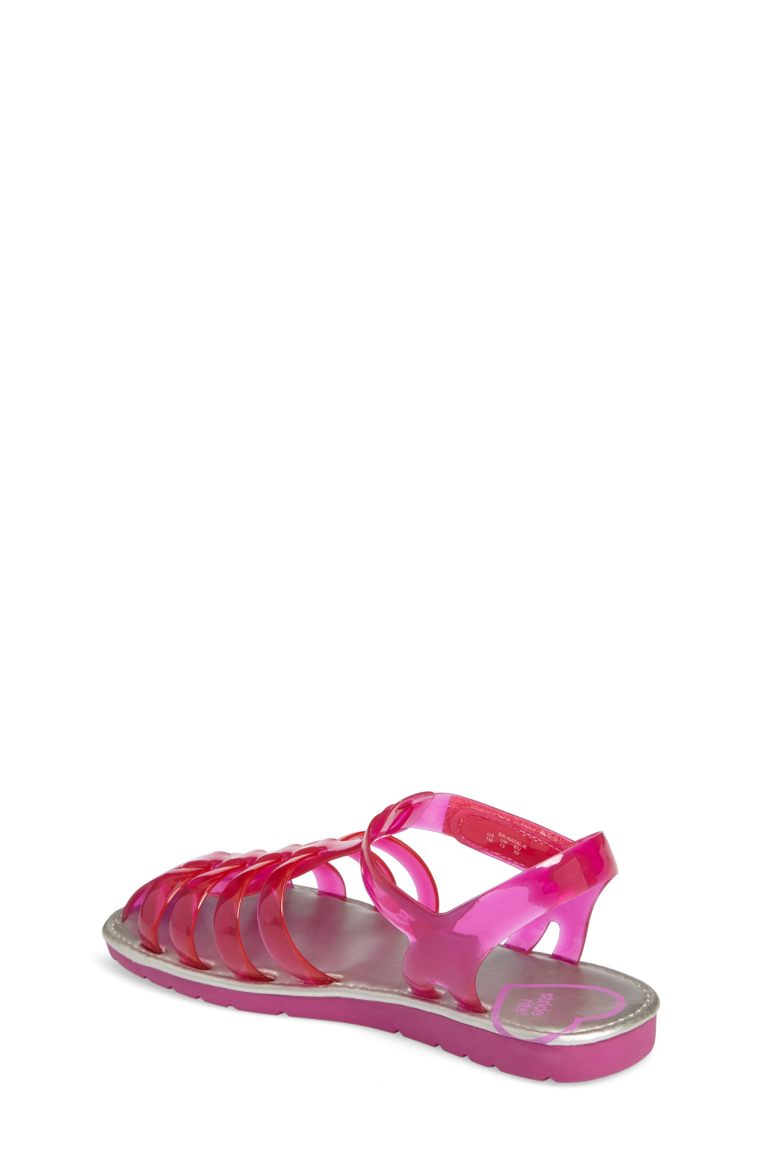 Natalie Jelly Sandal,                             Alternate thumbnail 2, color,                             Magenta