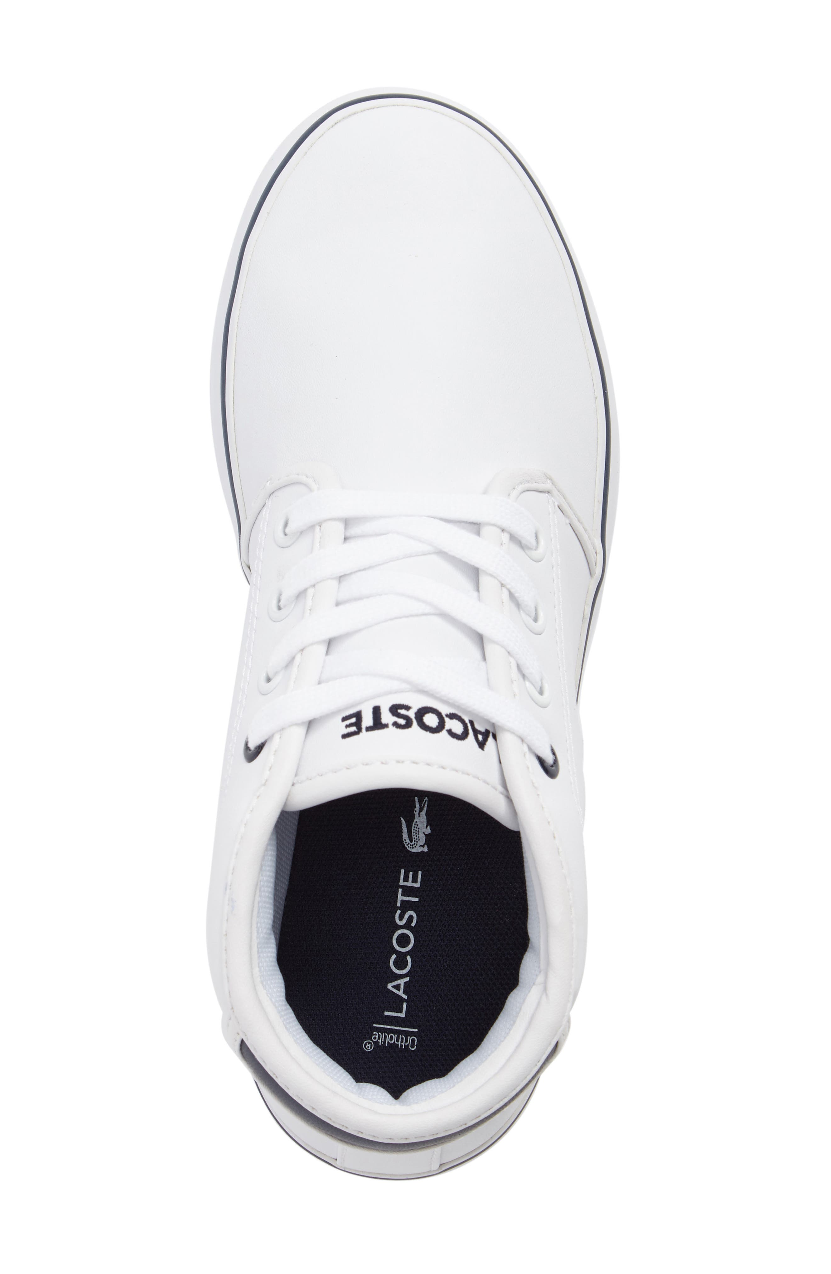 Ampthill High Top Sneaker,                             Alternate thumbnail 5, color,                             White/ Navy Faux Leather