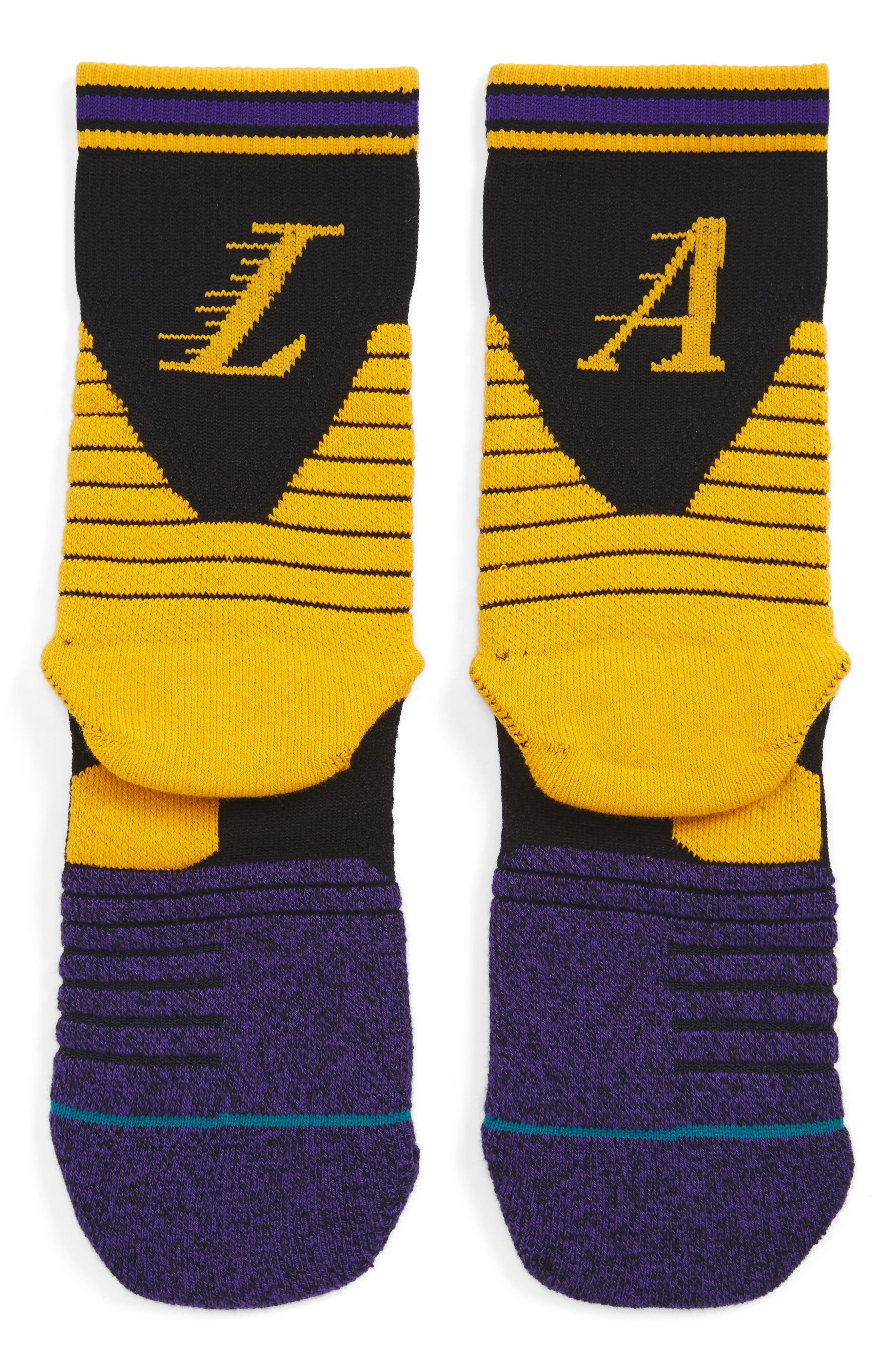 Stance NBA On Court Lakers Logo Socks