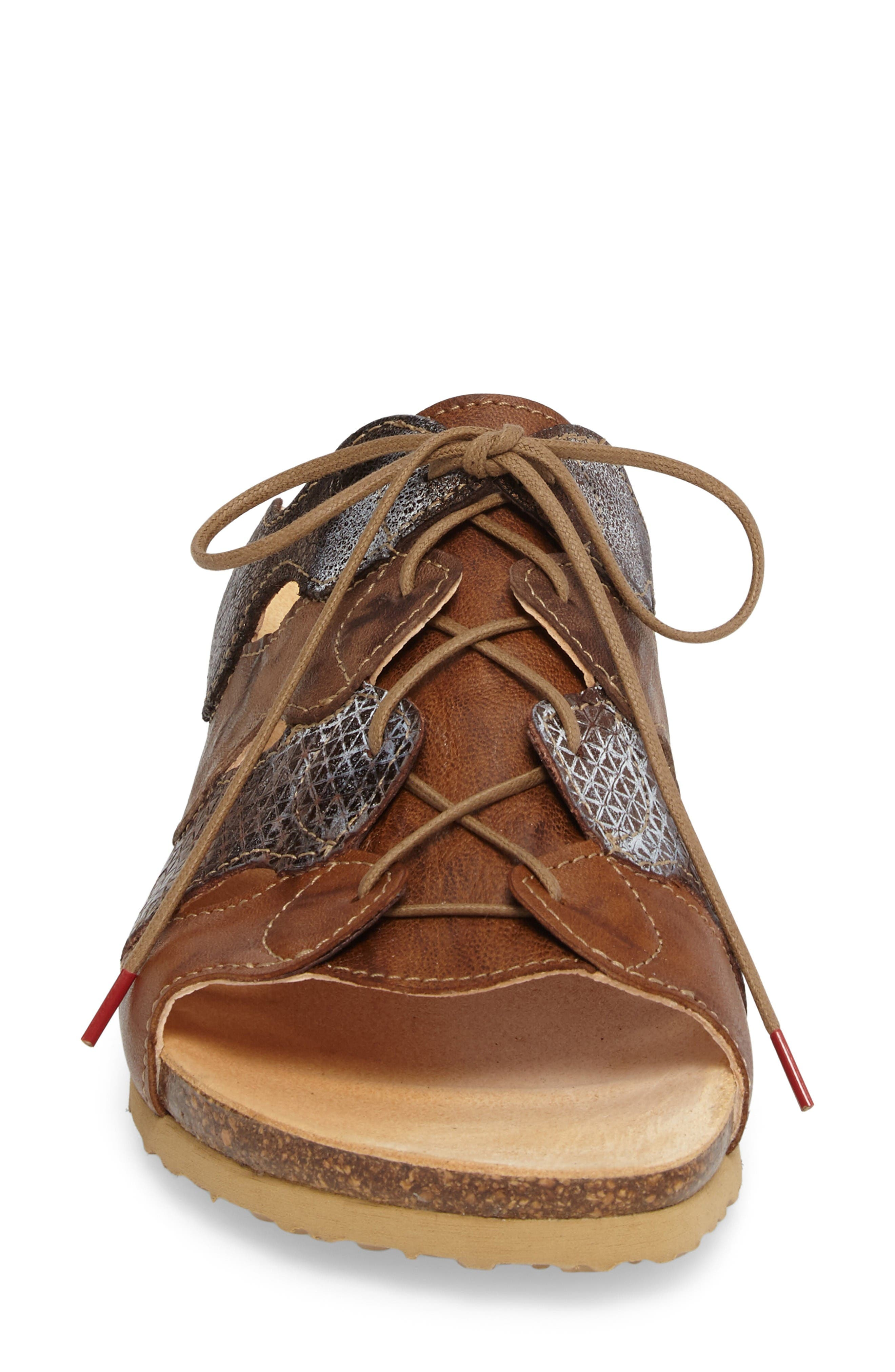 Julia Sandal,                             Alternate thumbnail 4, color,                             Lion Brown Leather