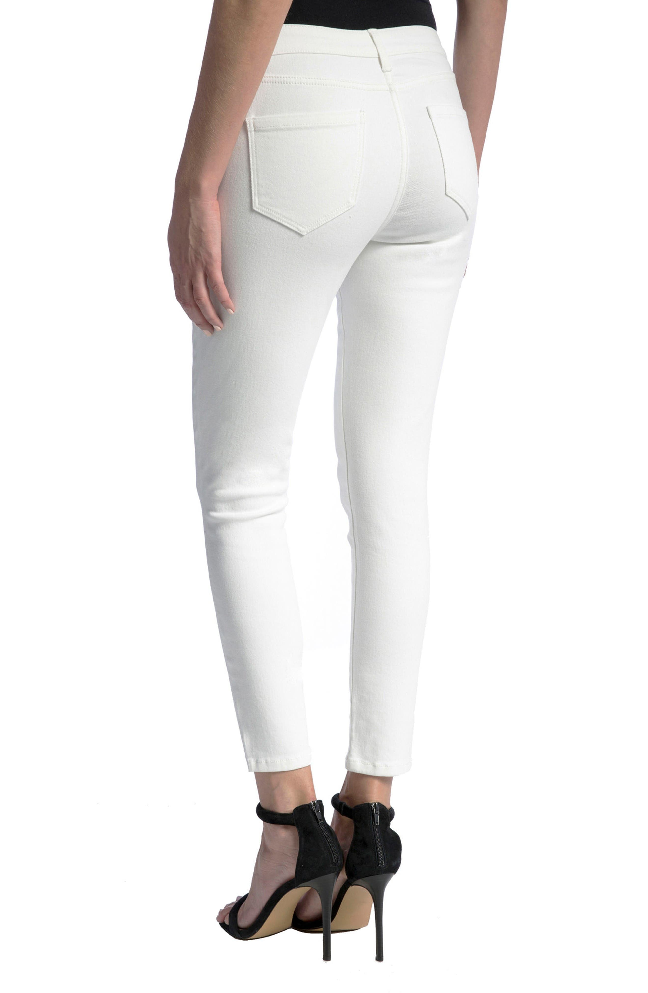 Penny Ankle Skinny Jeans,                             Alternate thumbnail 3, color,                             Bright White