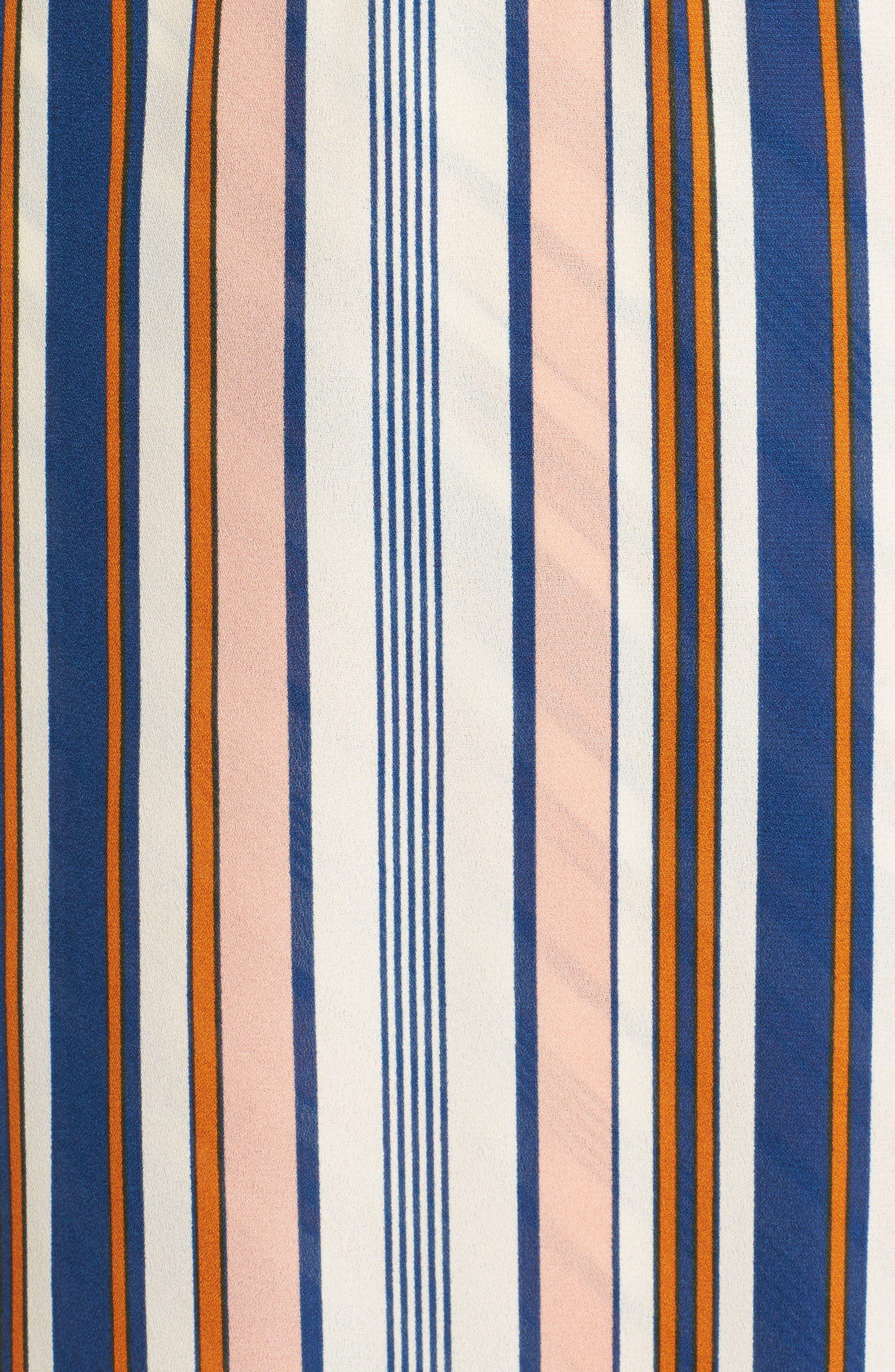 Alternate Image 5  - Dee Elly Stripe Surplice Dress