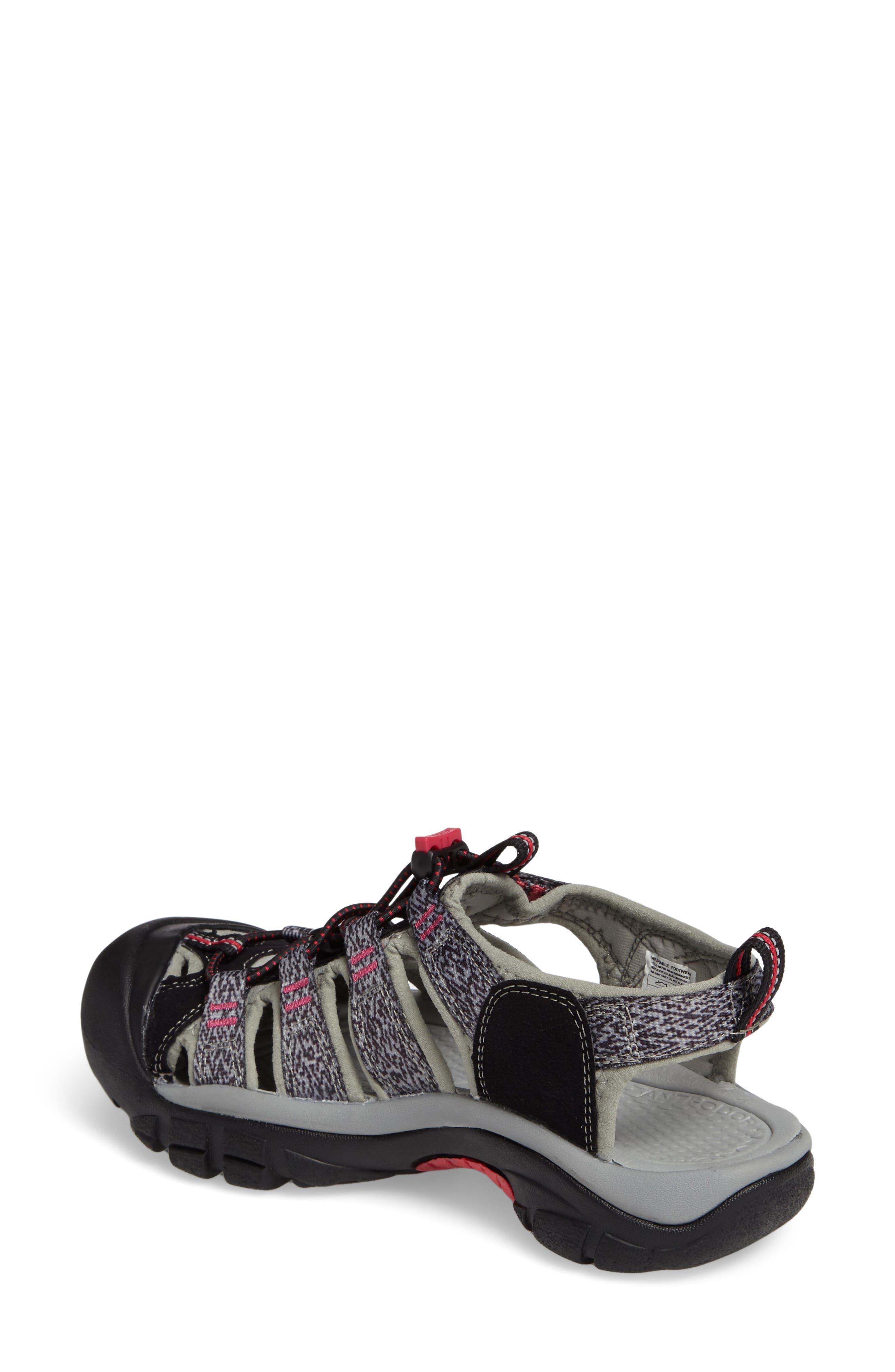 'Newport H2' Sandal,                             Alternate thumbnail 2, color,                             Black/ Bright Rose Fabric