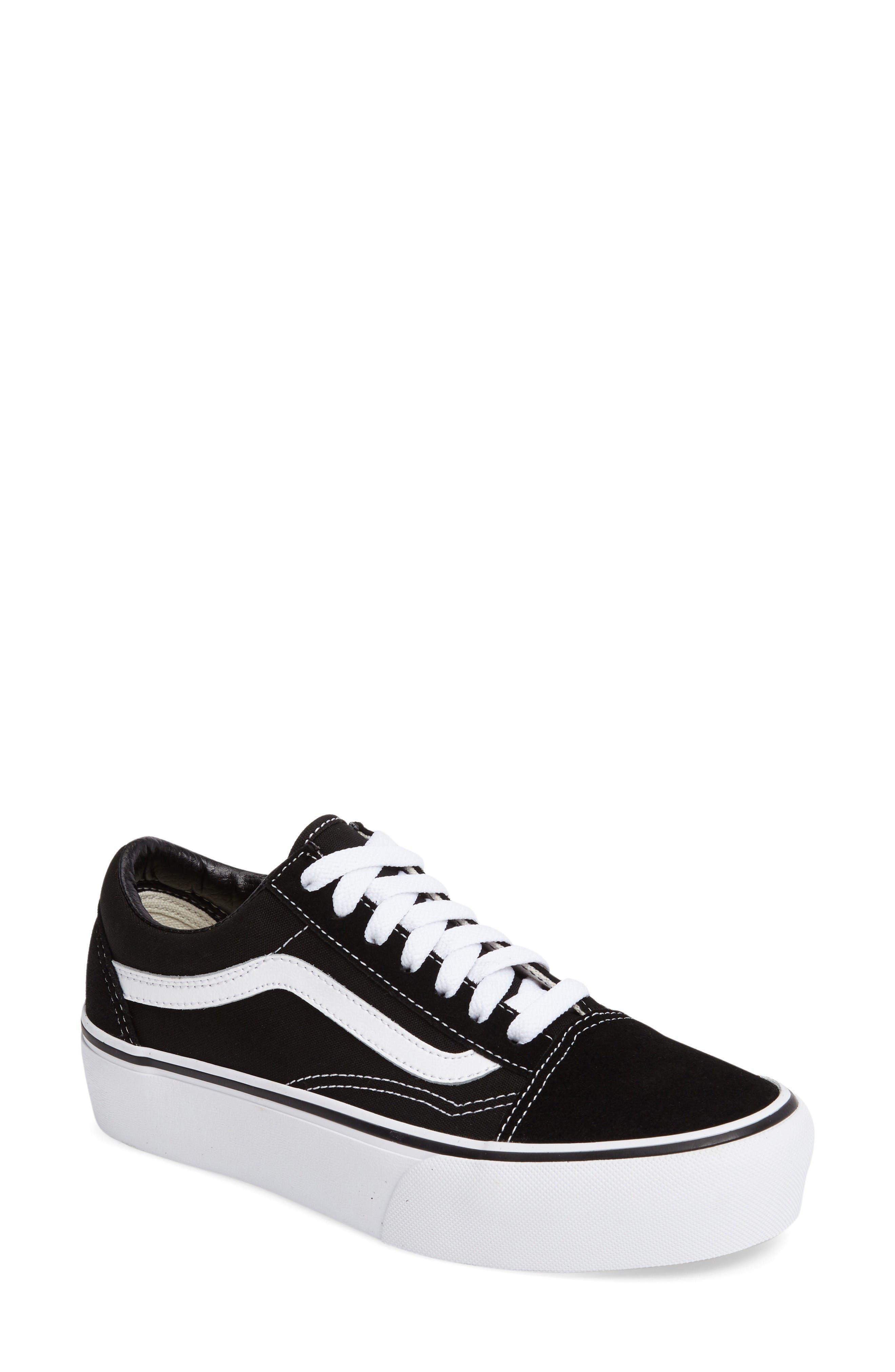 Old Skool Platform Sneaker,                         Main,                         color, Black/ White