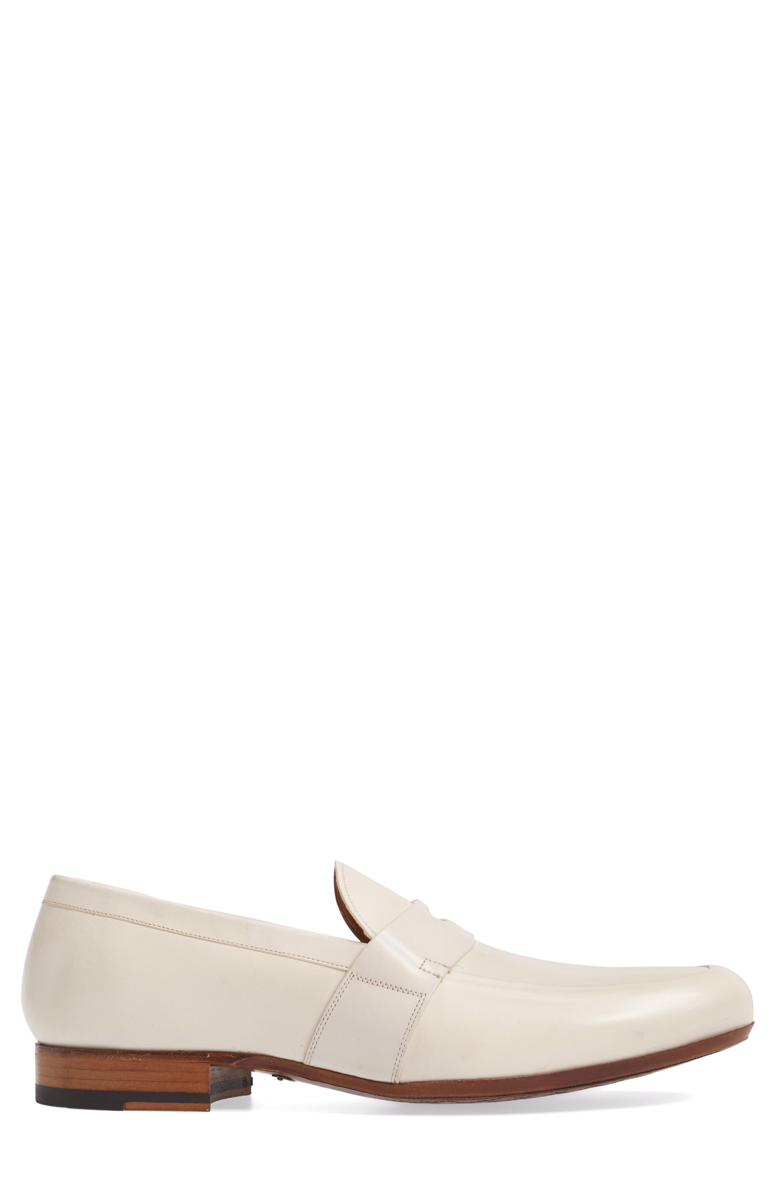 Leopold Penny Loafer,                             Alternate thumbnail 3, color,                             Bone Leather