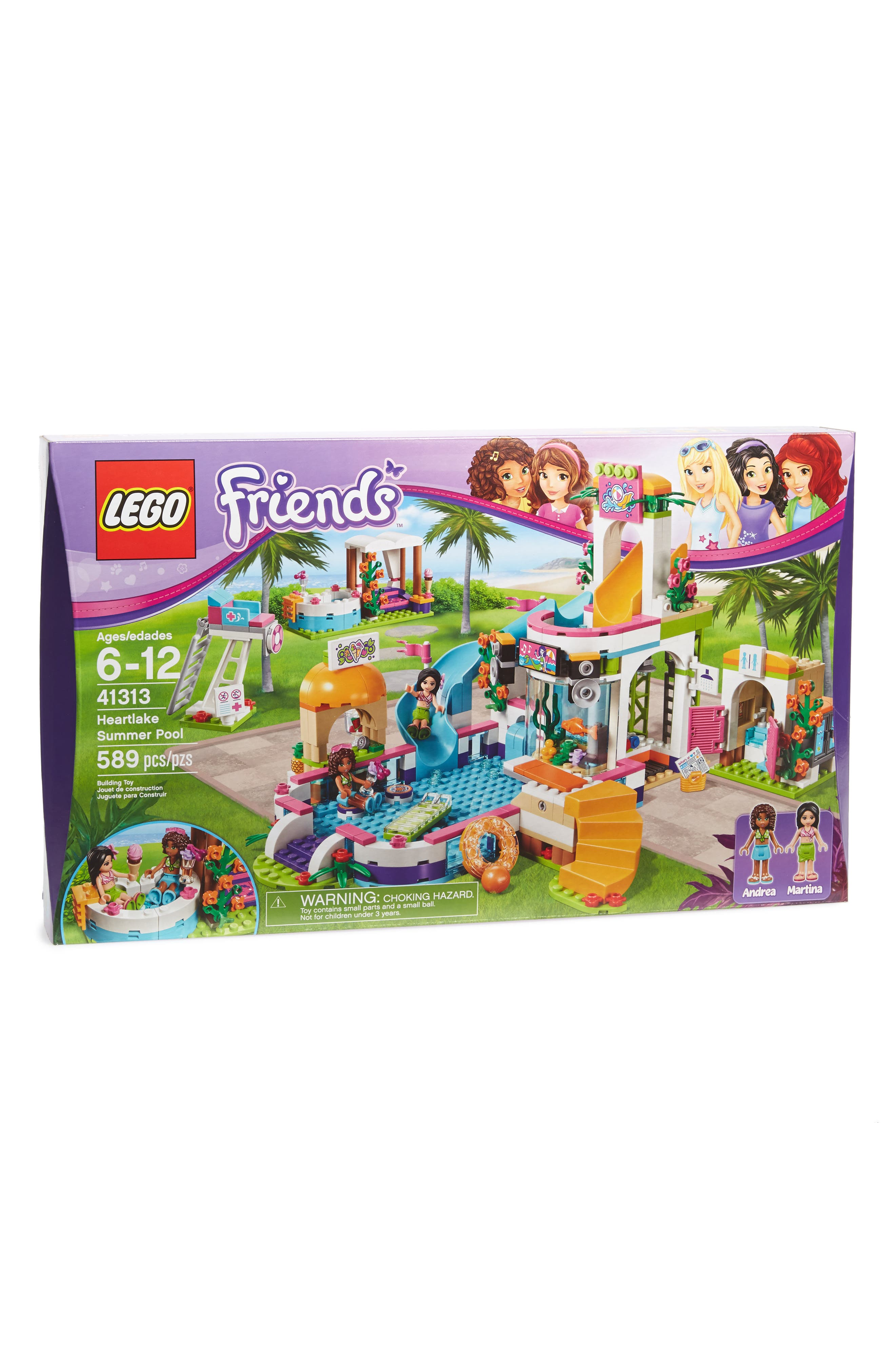 Friends<sup>™</sup> Heartlake Summer Pool - 41313,                         Main,                         color, Purple