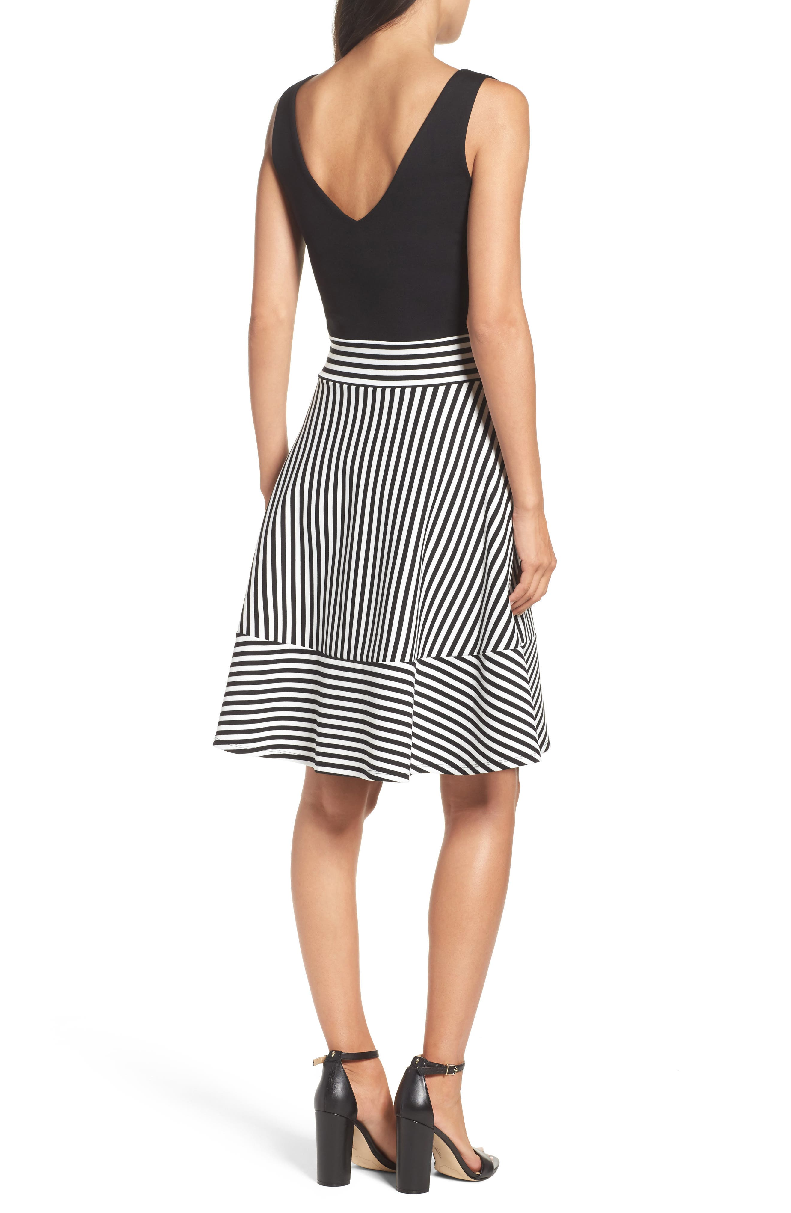 Alternate Image 2  - Felicity & Coco Lala Stripe Fit & Flare Dress (Nordstrom Exclusive)
