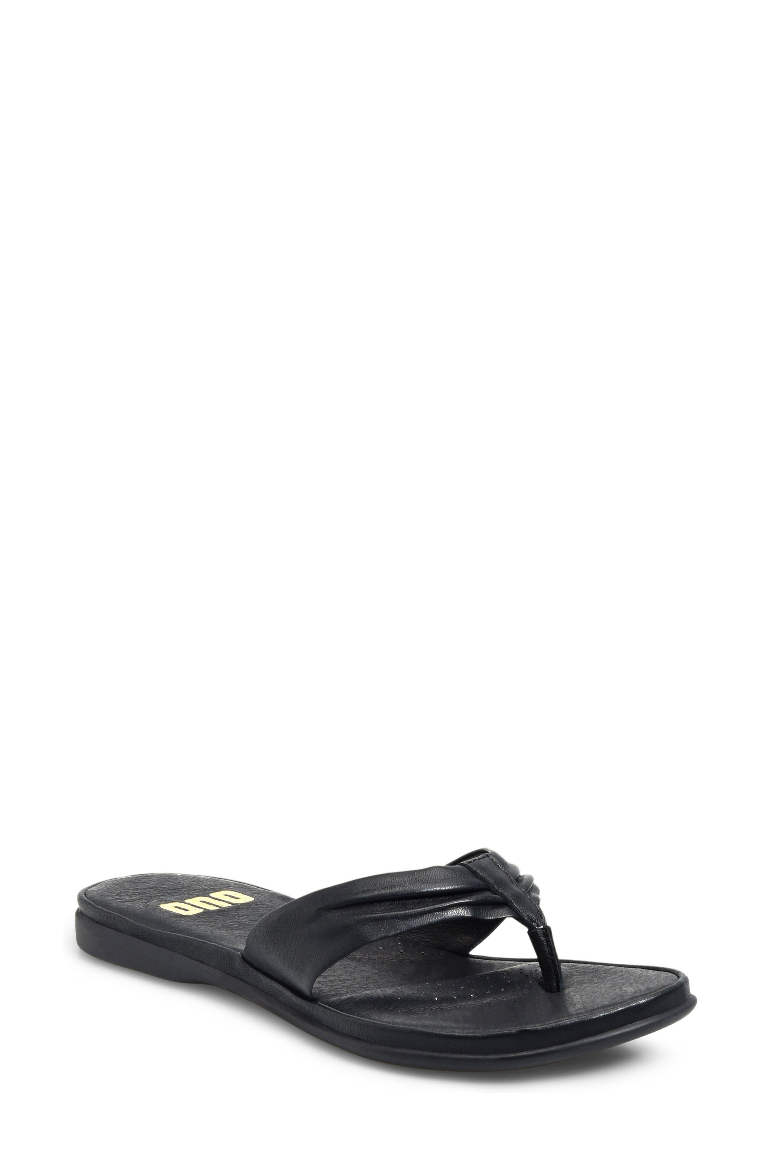 Liv Flip Flop,                         Main,                         color, Black Leather