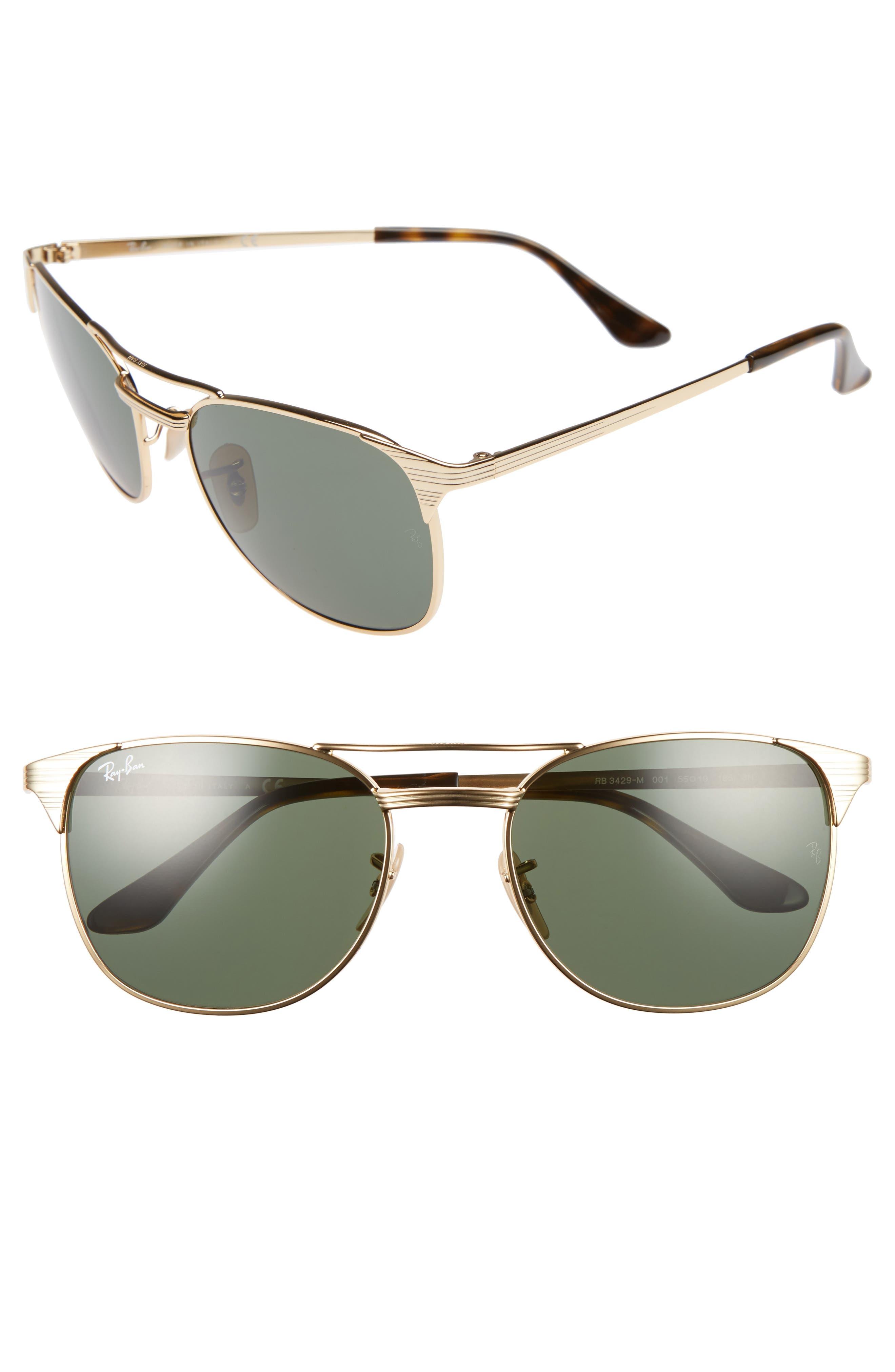 RAY-BAN Standard Icons Signet 55mm Retro Sunglasses