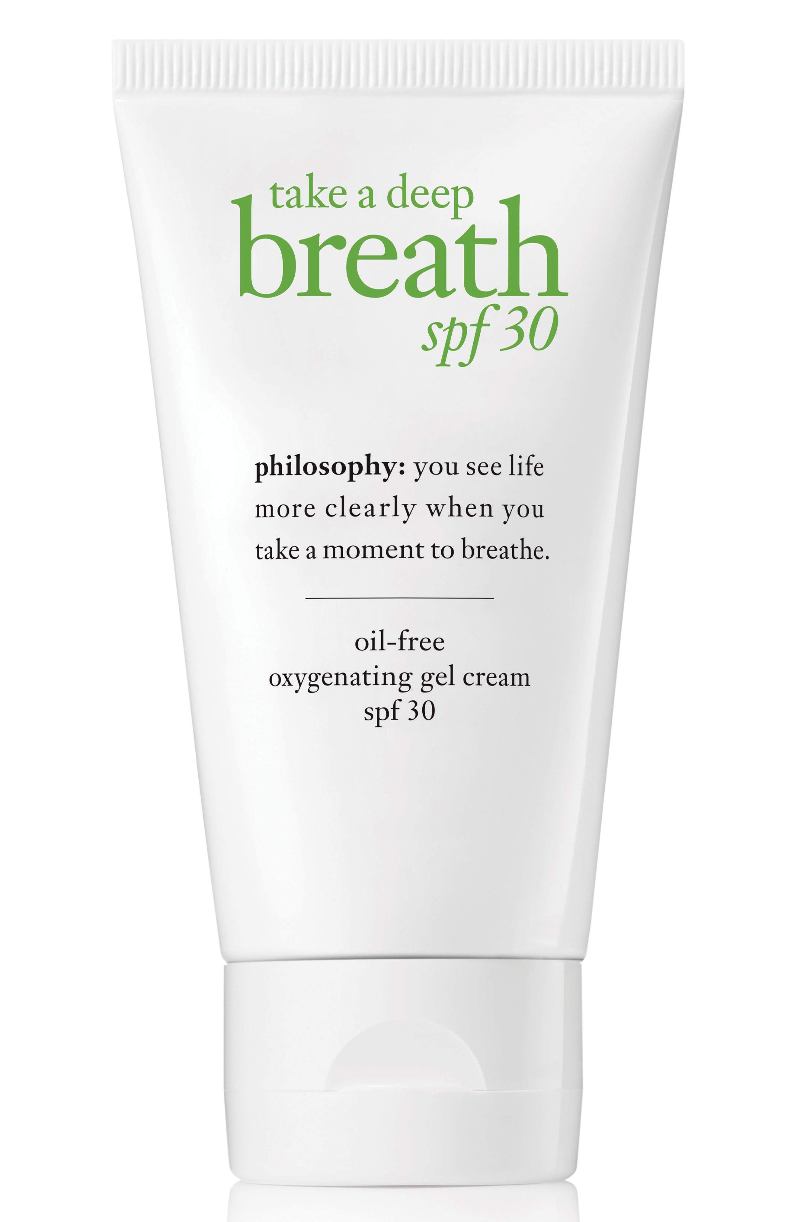 take a deep breath oil-free oxygenating gel cream SPF 30,                             Main thumbnail 1, color,                             No Color