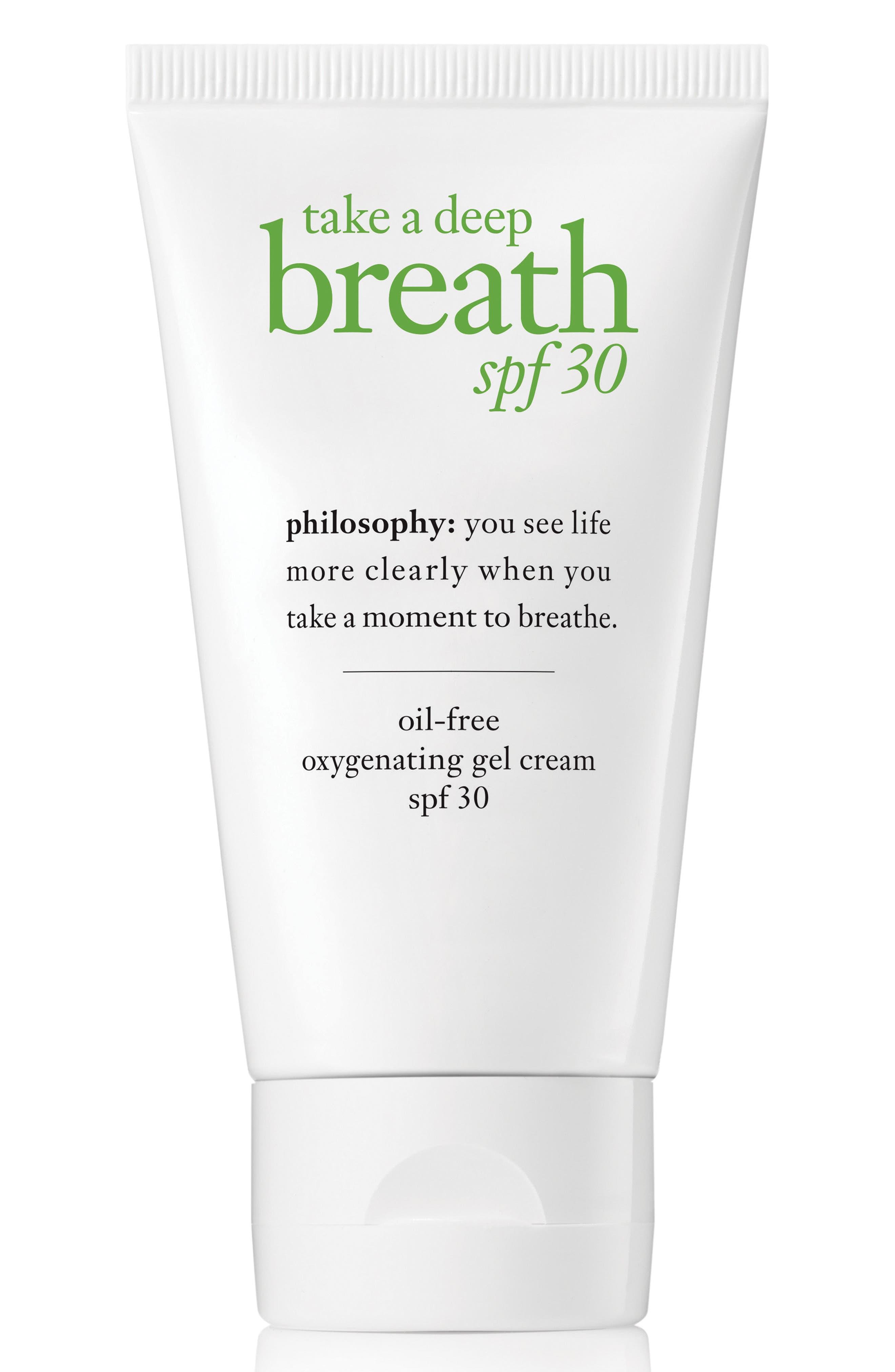 Main Image - philosophy take a deep breath oil-free oxygenating gel cream SPF 30