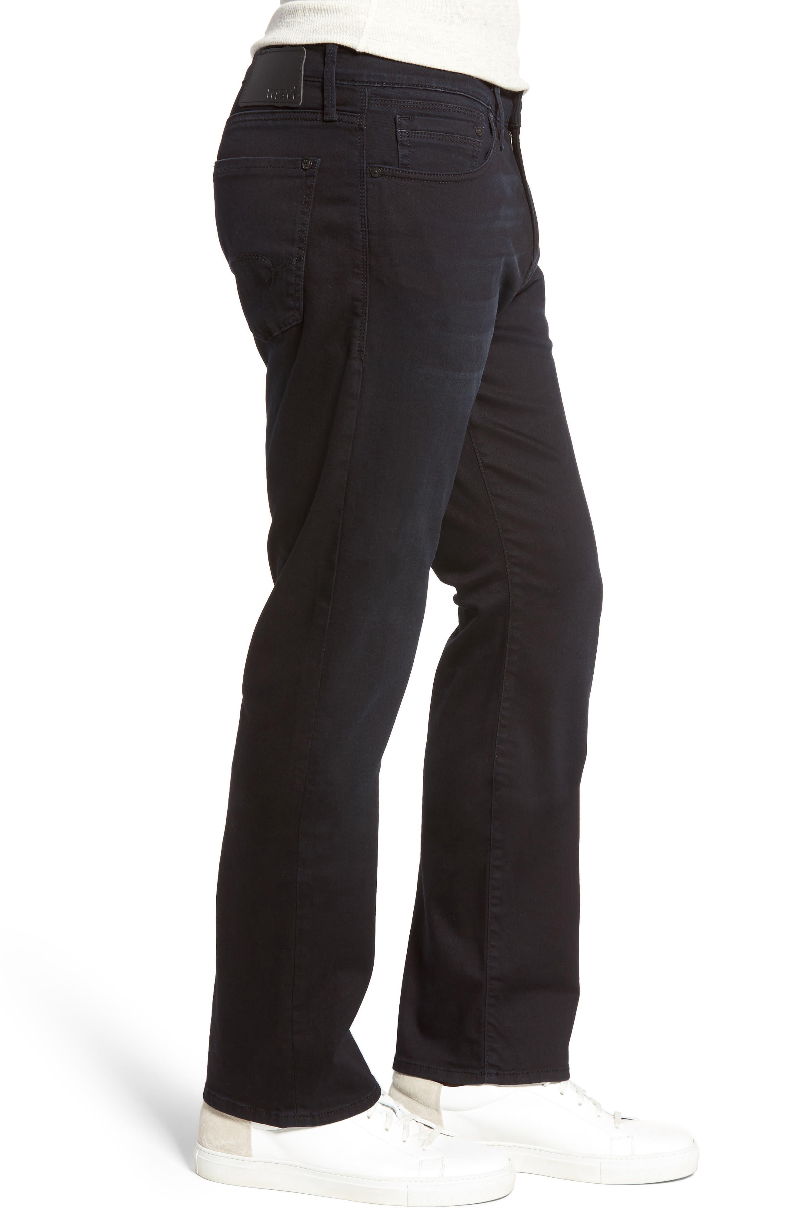 Matt Relaxed Fit Jeans,                             Alternate thumbnail 3, color,                             Blue Black