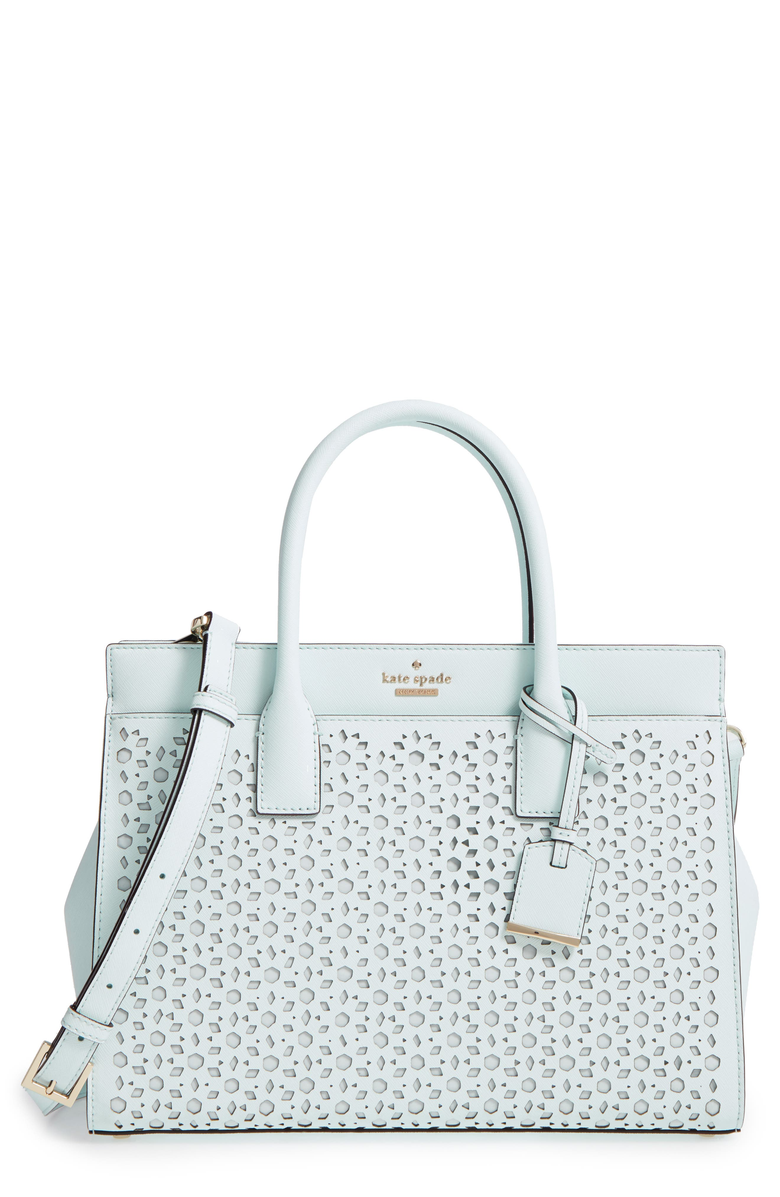 Alternate Image 1 Selected - kate spade new york cameron street - candace perforated leather satchel