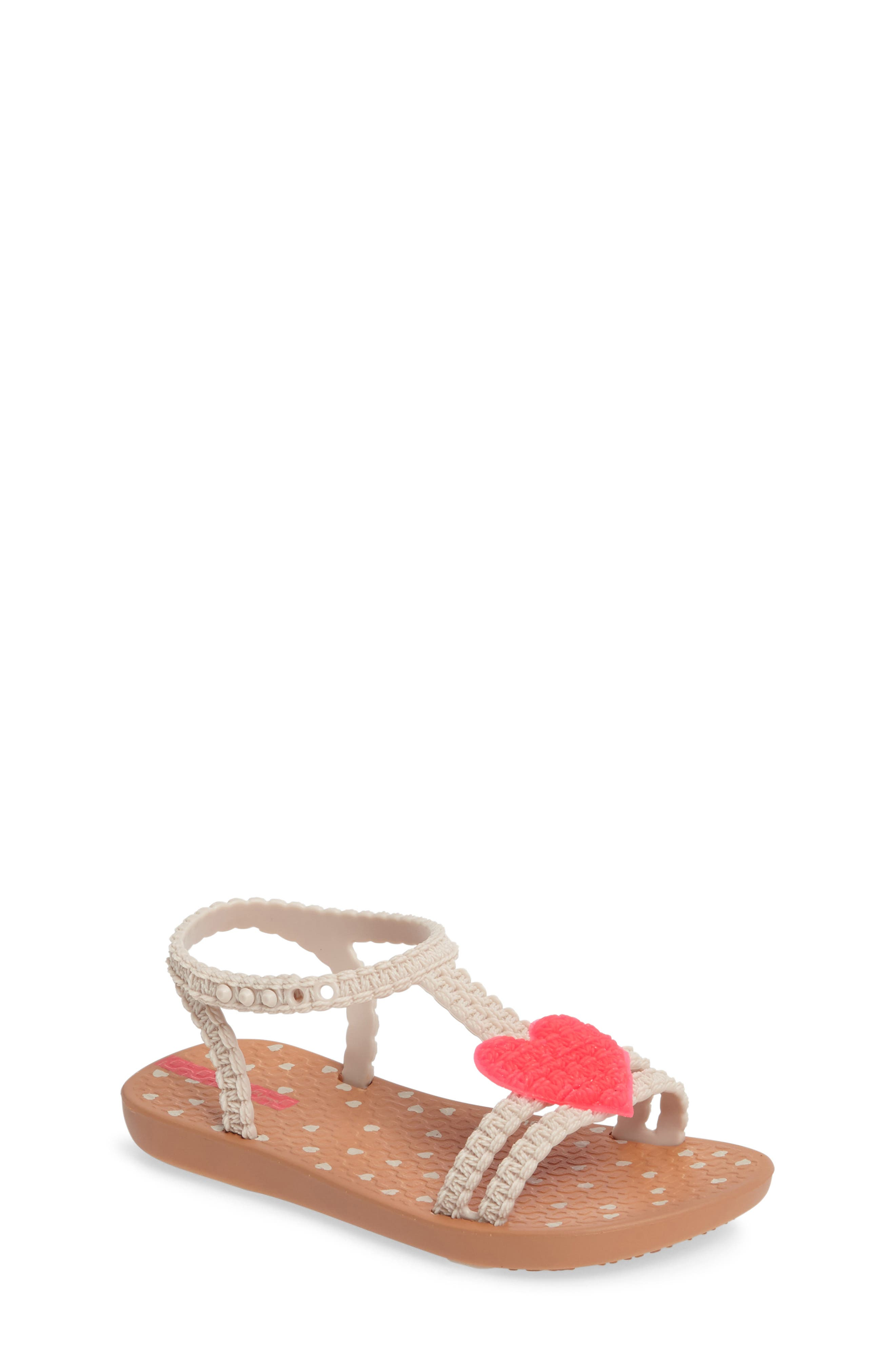 My First Ipanema Sandal,                         Main,                         color, Brown/ Pink