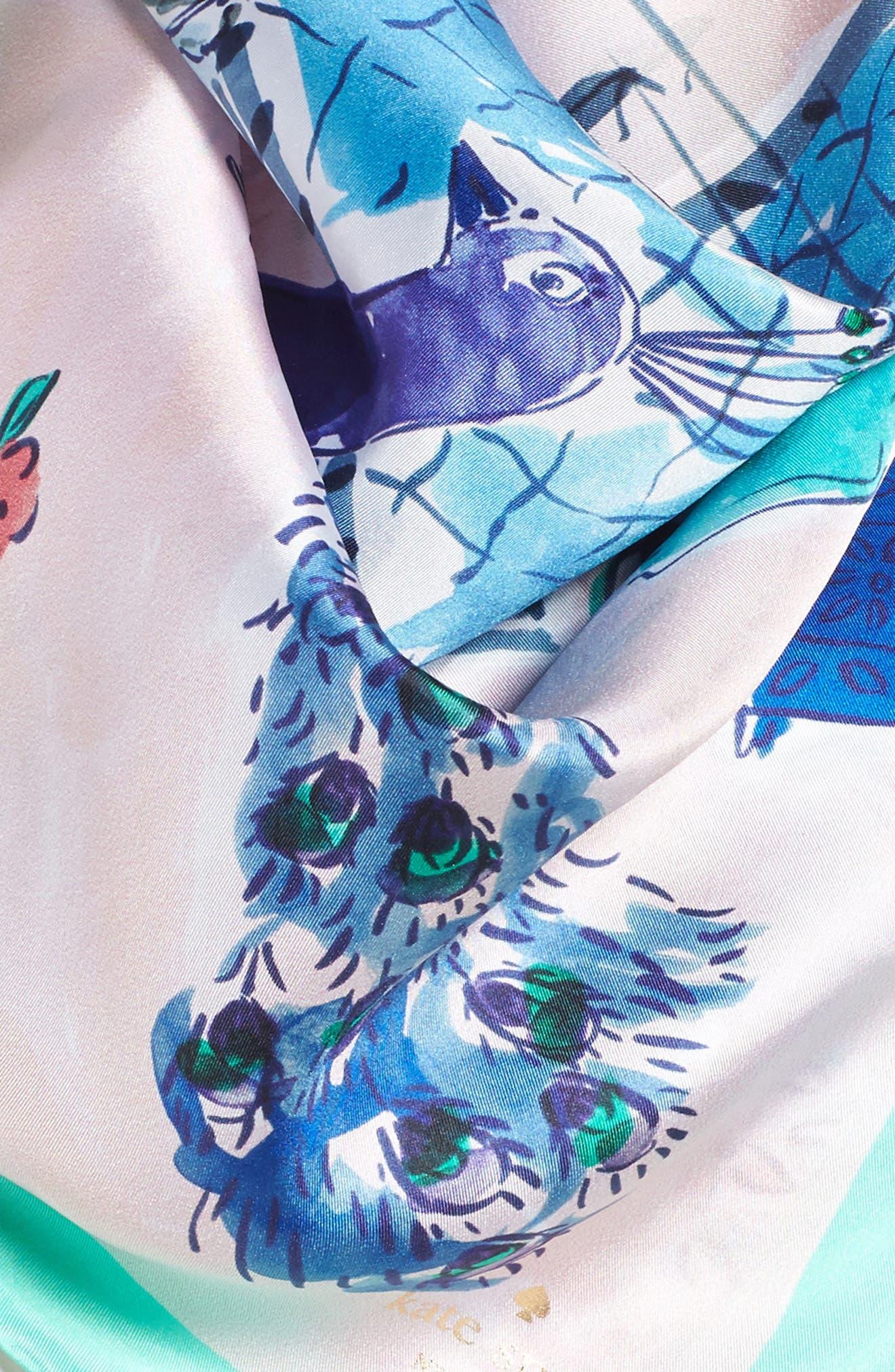 Alternate Image 3  - kate spade new york majorelle scene silk square scarf
