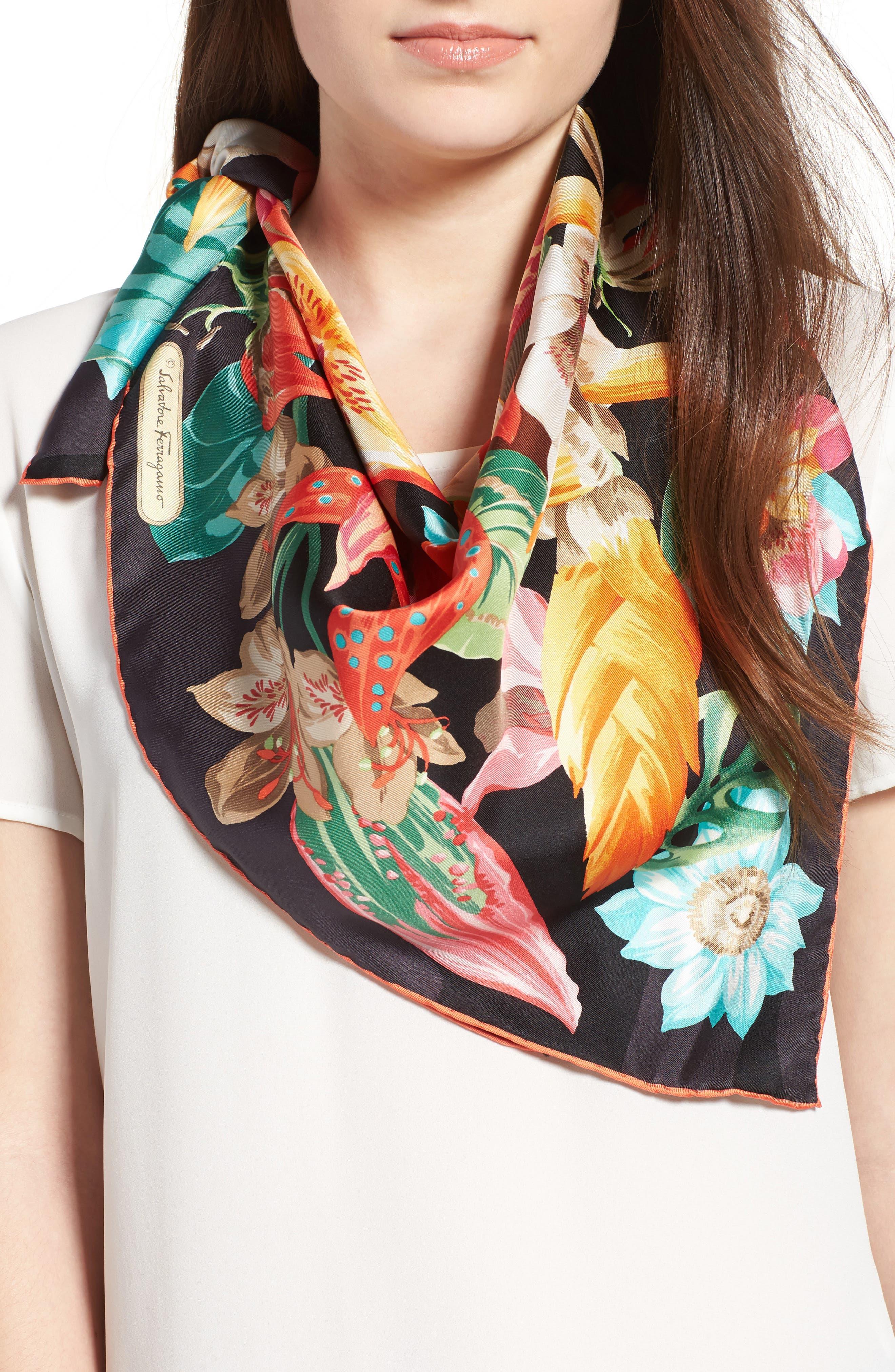 Alternate Image 2  - Salvatore Ferragamo Nettare Floral Silk Scarf