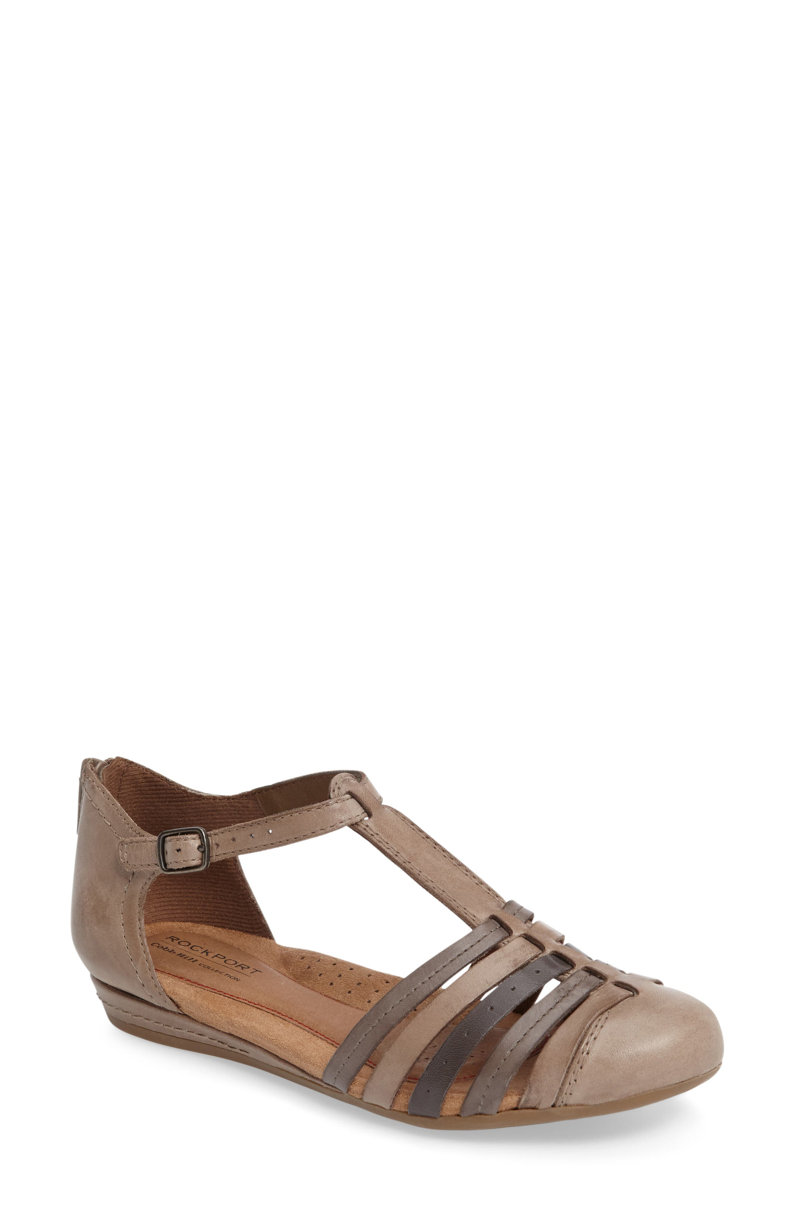 Rockport Cobb Hill Galway T-Strap Sandal (Women)