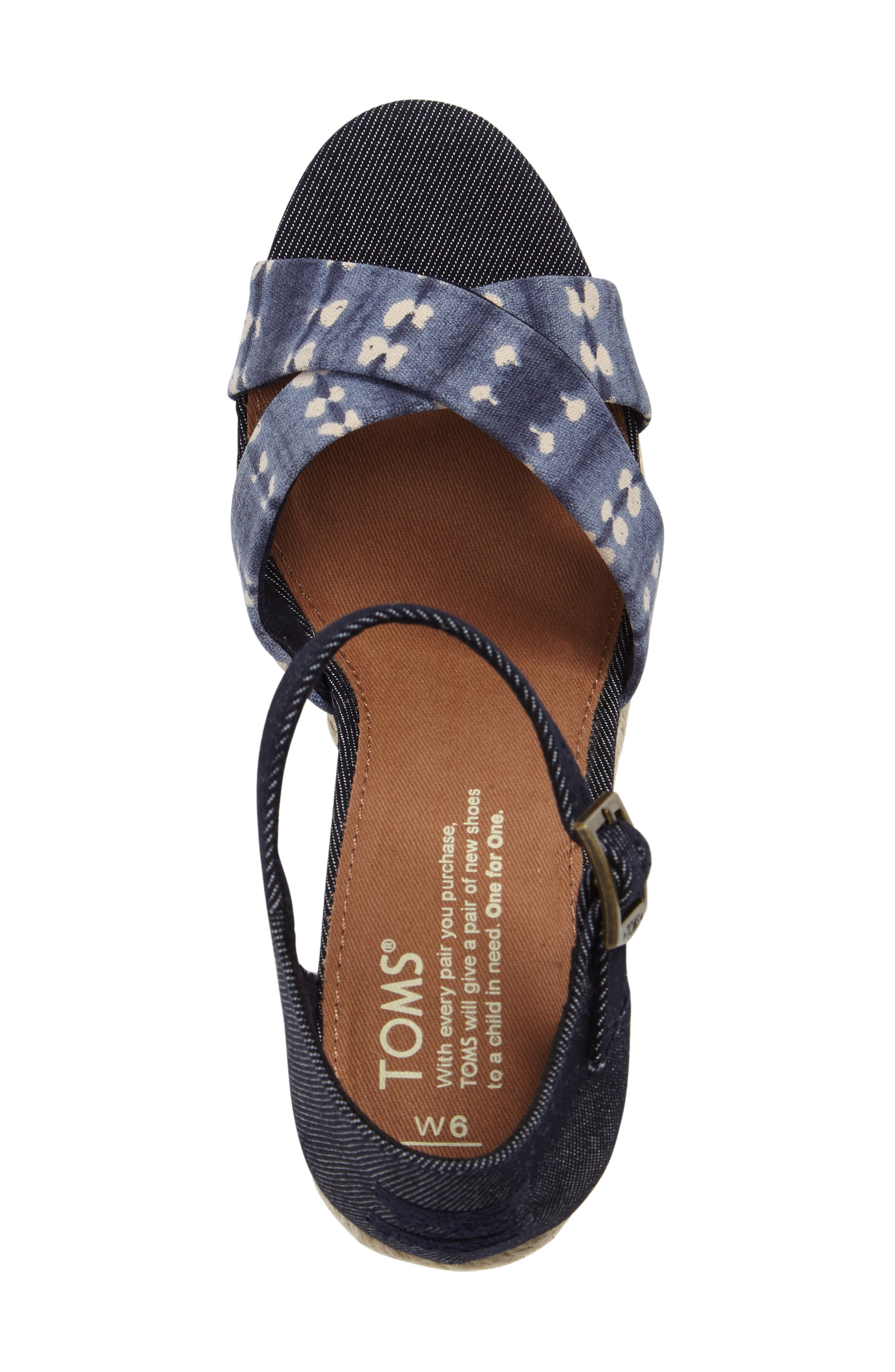 Alternate Image 5  - TOMS Sienna Wedge Sandal (Women)