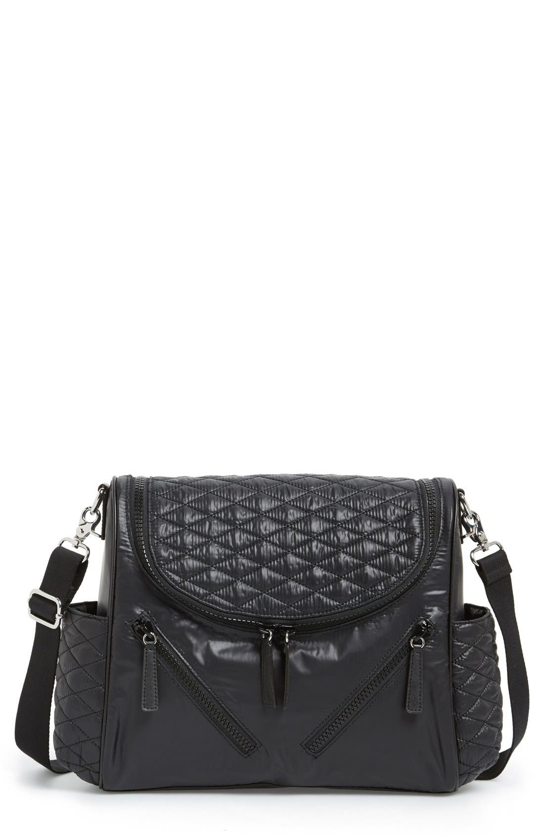 'Jude' Nylon Baby Bag,                         Main,                         color, Black