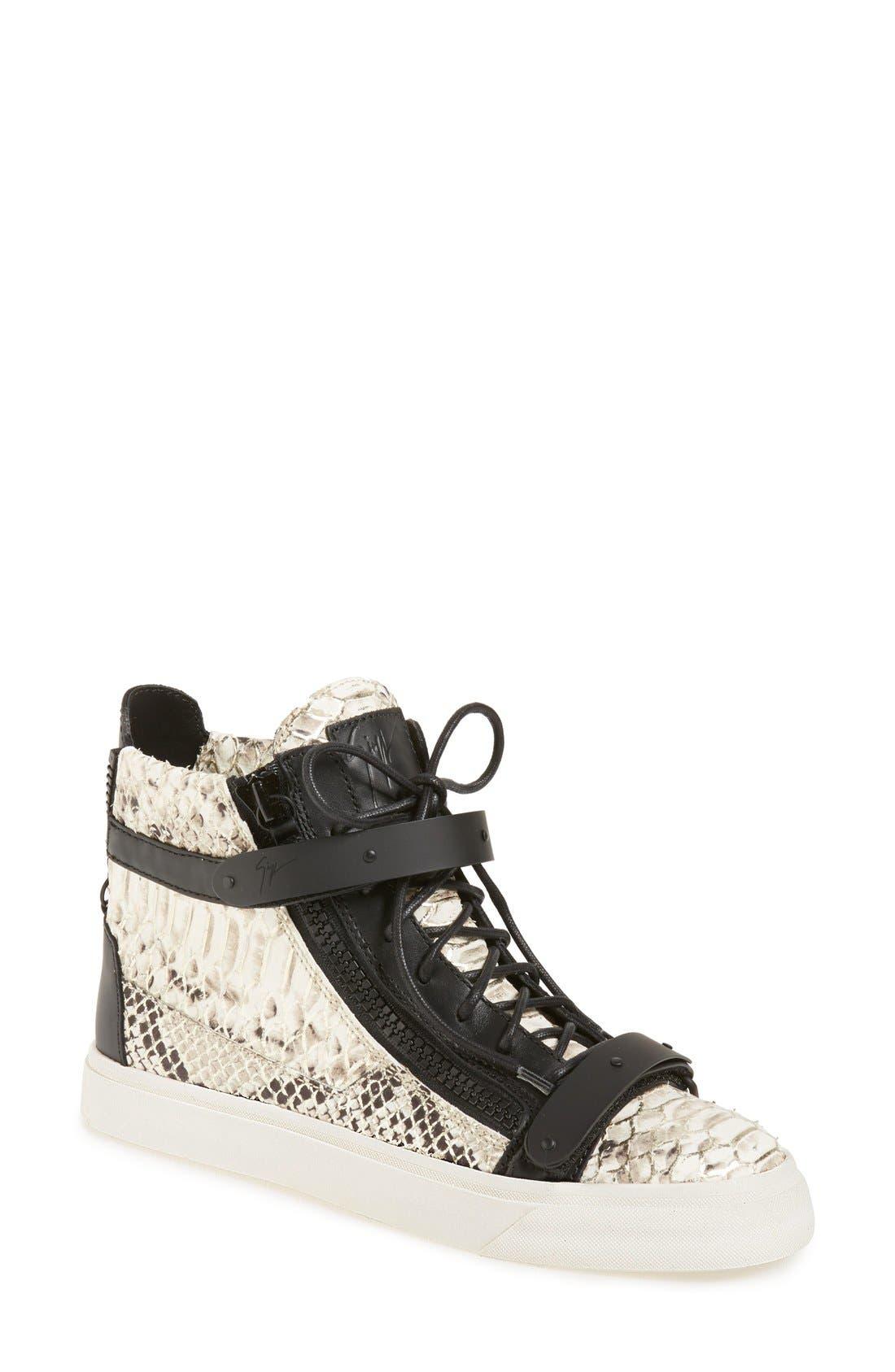 Alternate Image 1 Selected - Giuseppe Zanotti 'London' High Top Sneaker (Women)