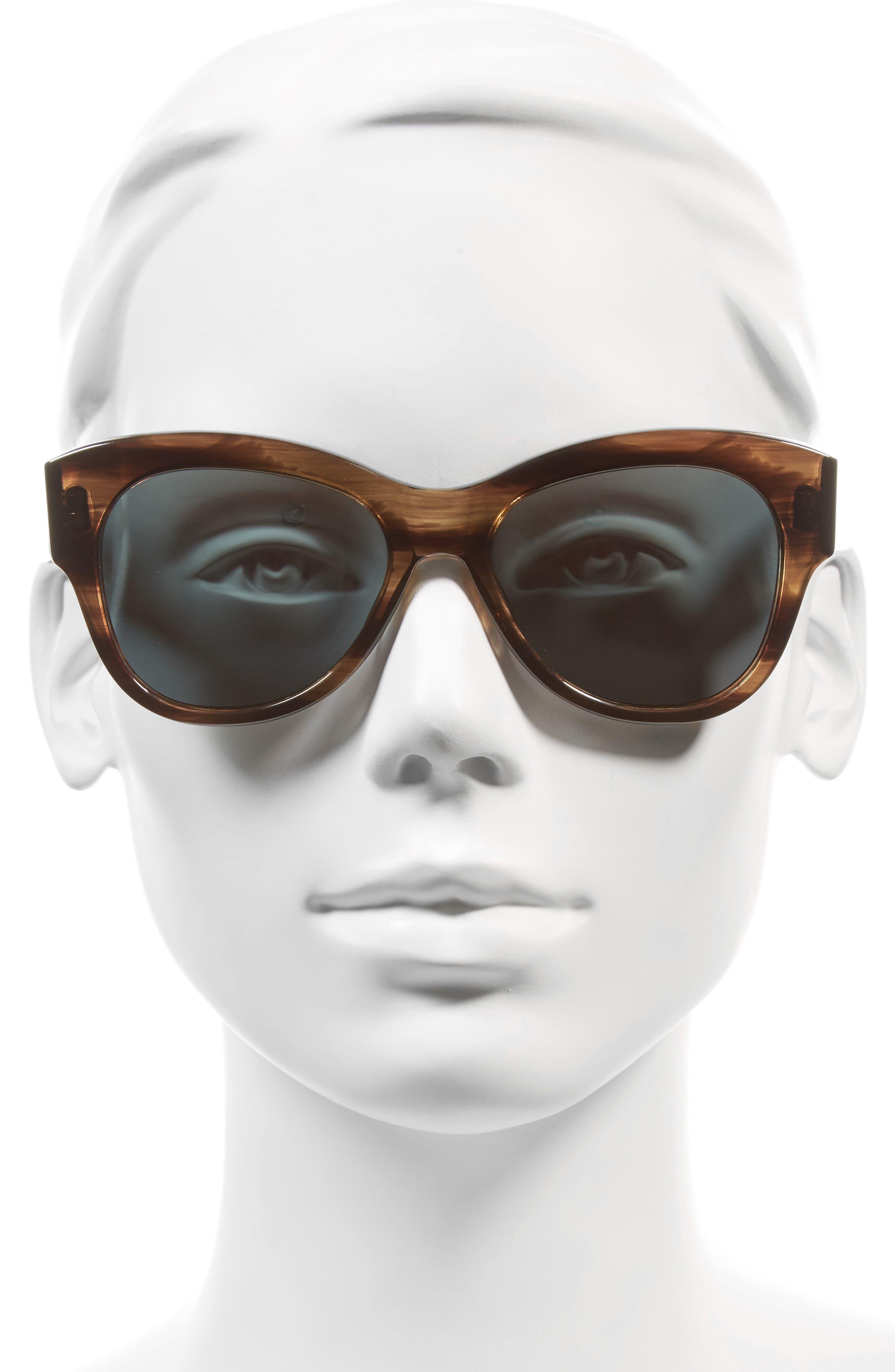 Hammen 54mm Polarized Cat Eye Sunglasses,                             Alternate thumbnail 2, color,                             Hazy Taupe/ Rose Mirror