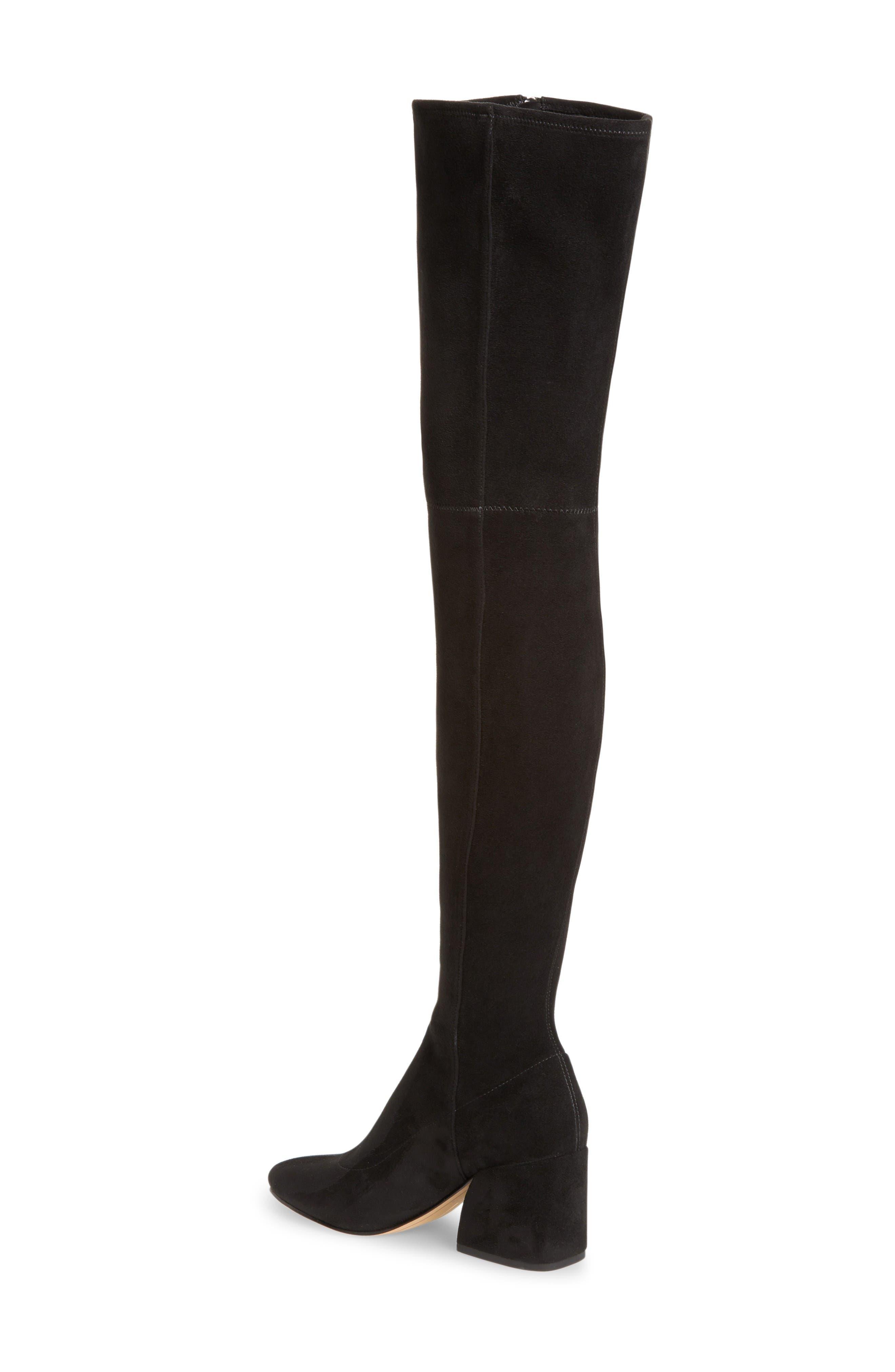 Vix Thigh High Boot,                             Alternate thumbnail 2, color,                             Black Suede